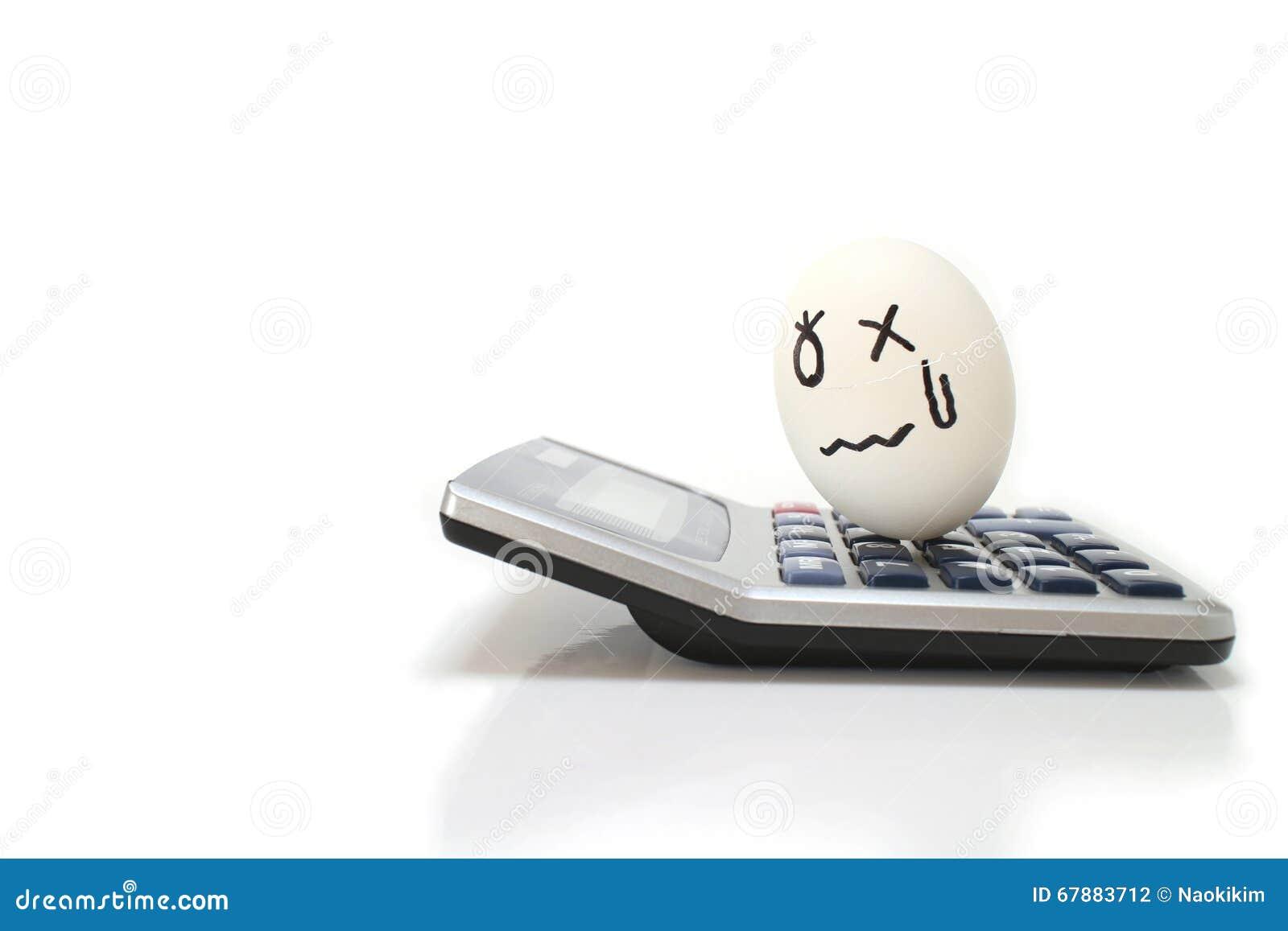 在电子计算器的生气的鸡蛋