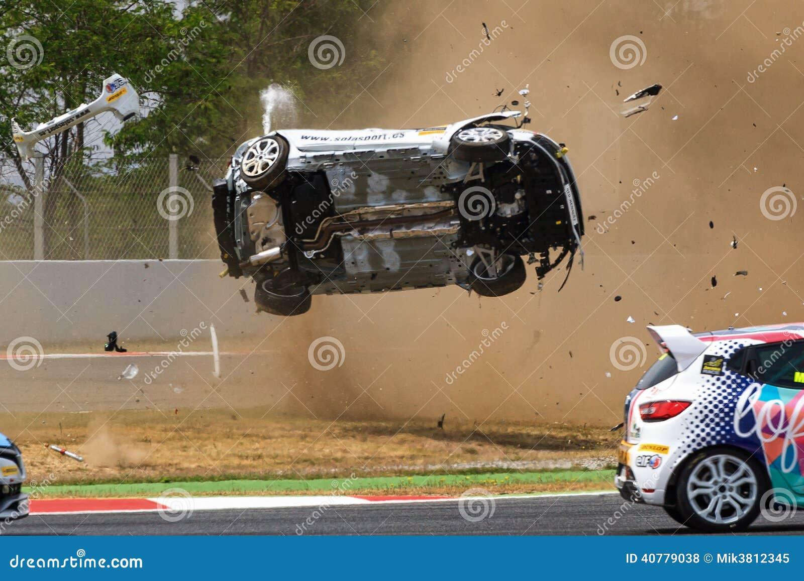 在电路de Catalunya的车祸