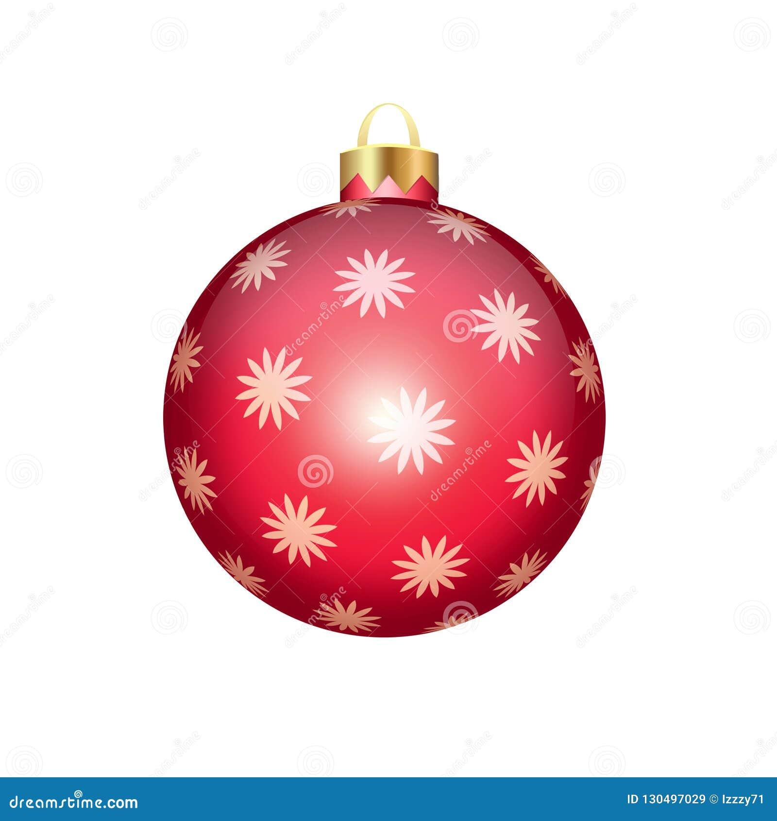 在白色查出的圣诞节球