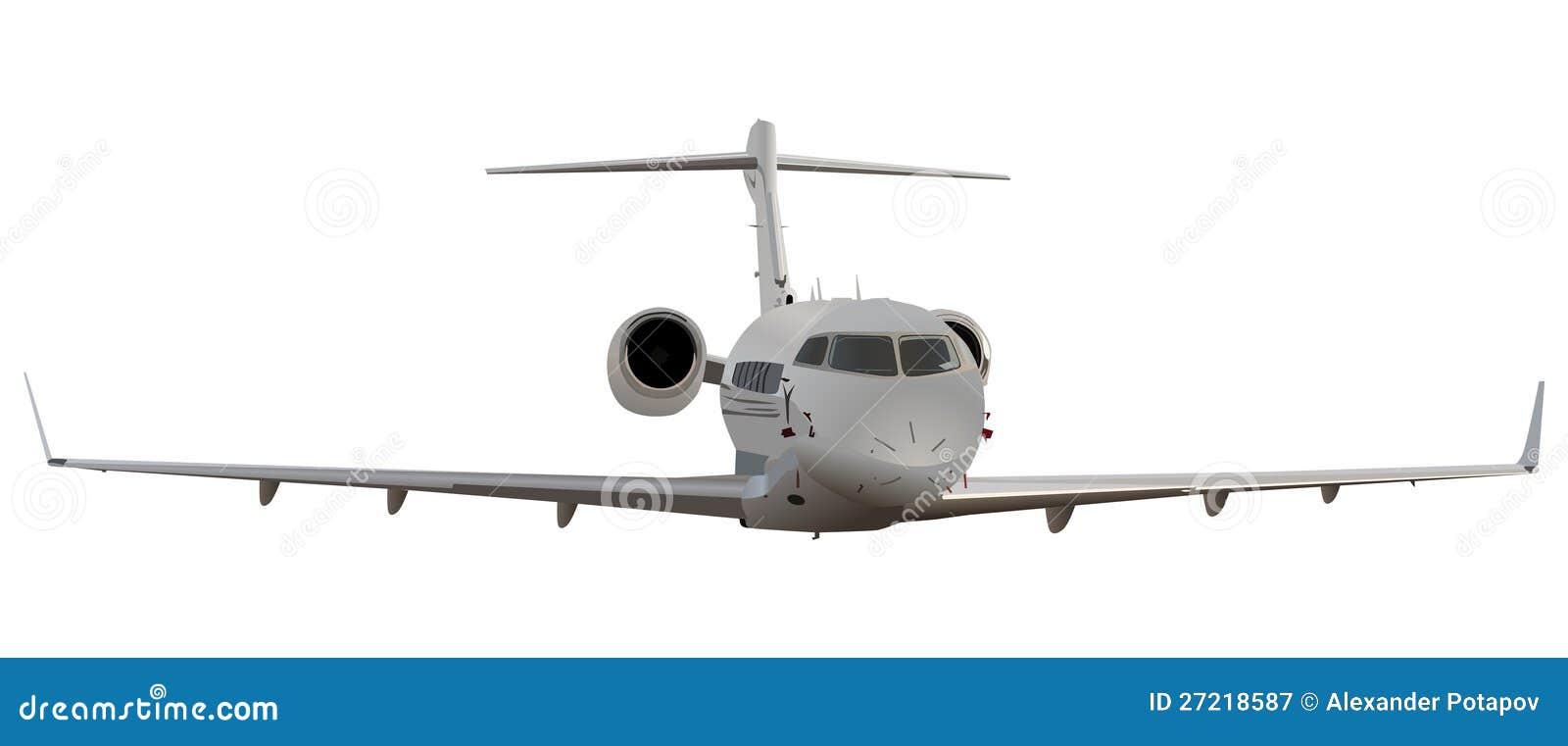 在白色查出的飞行飞机