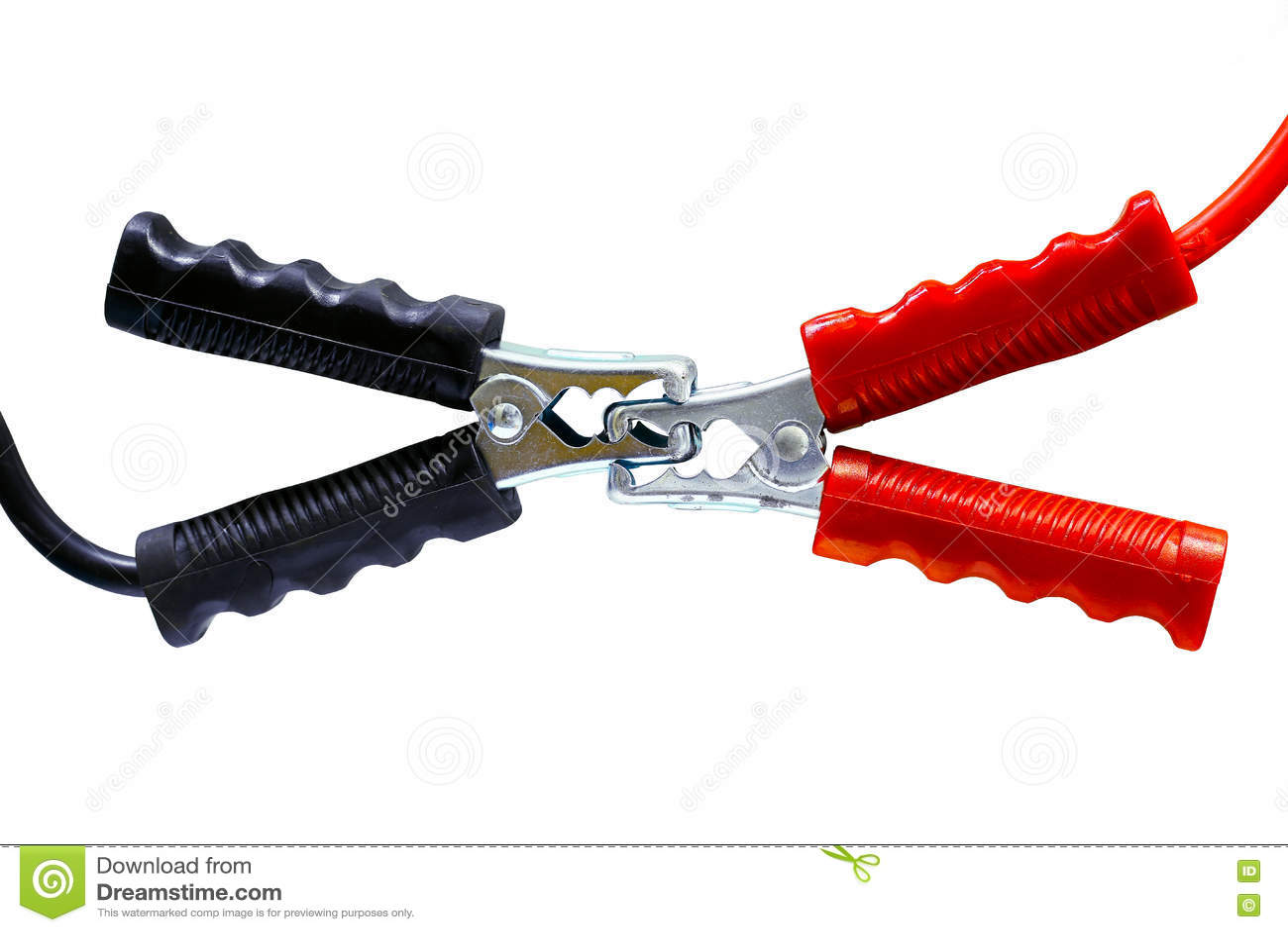 在白色电池缆绳背景、连接器在产业工作的,服务和电池的再充电力量隔绝的电池缆绳
