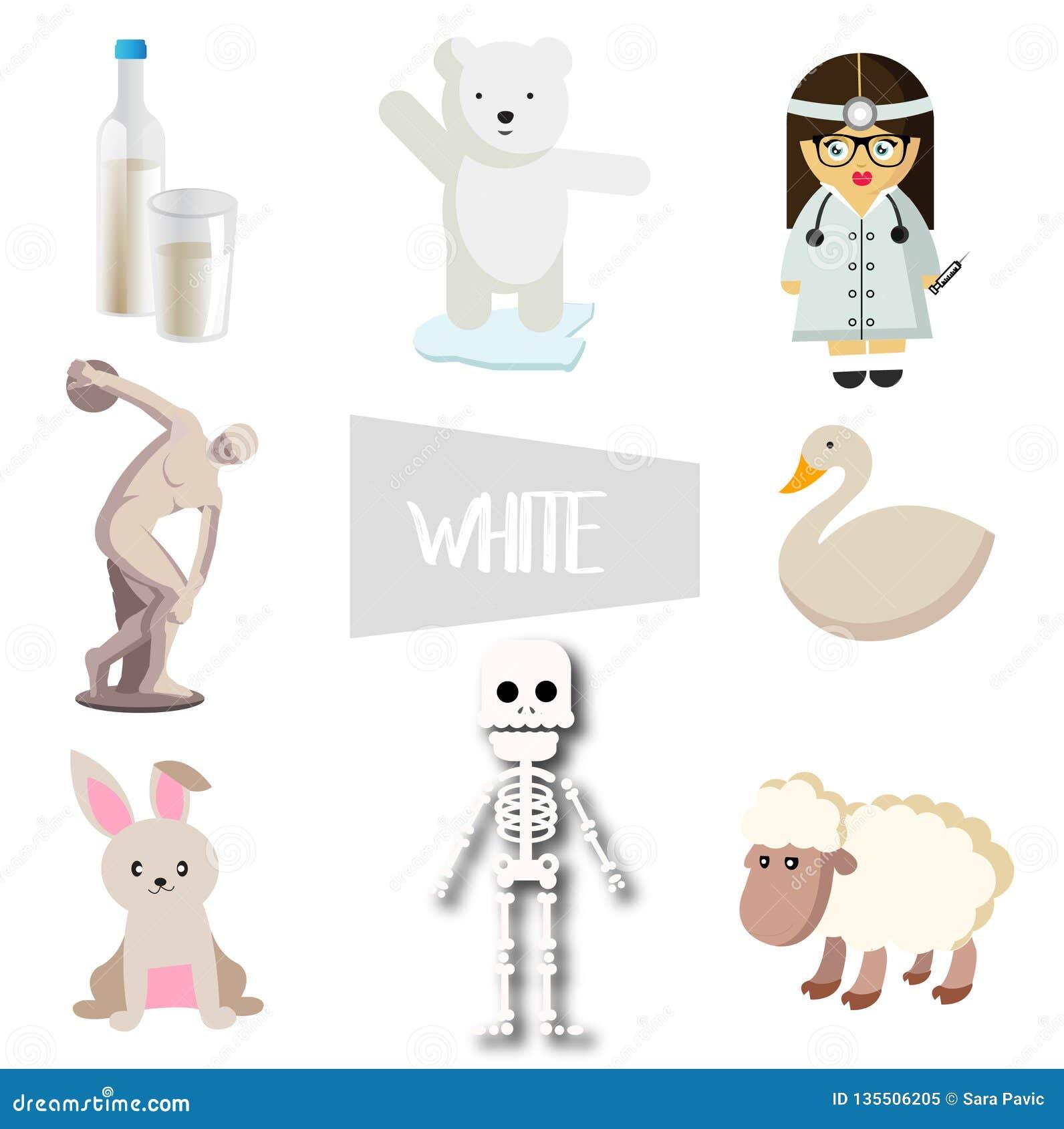 在白色的八个传染媒介例证