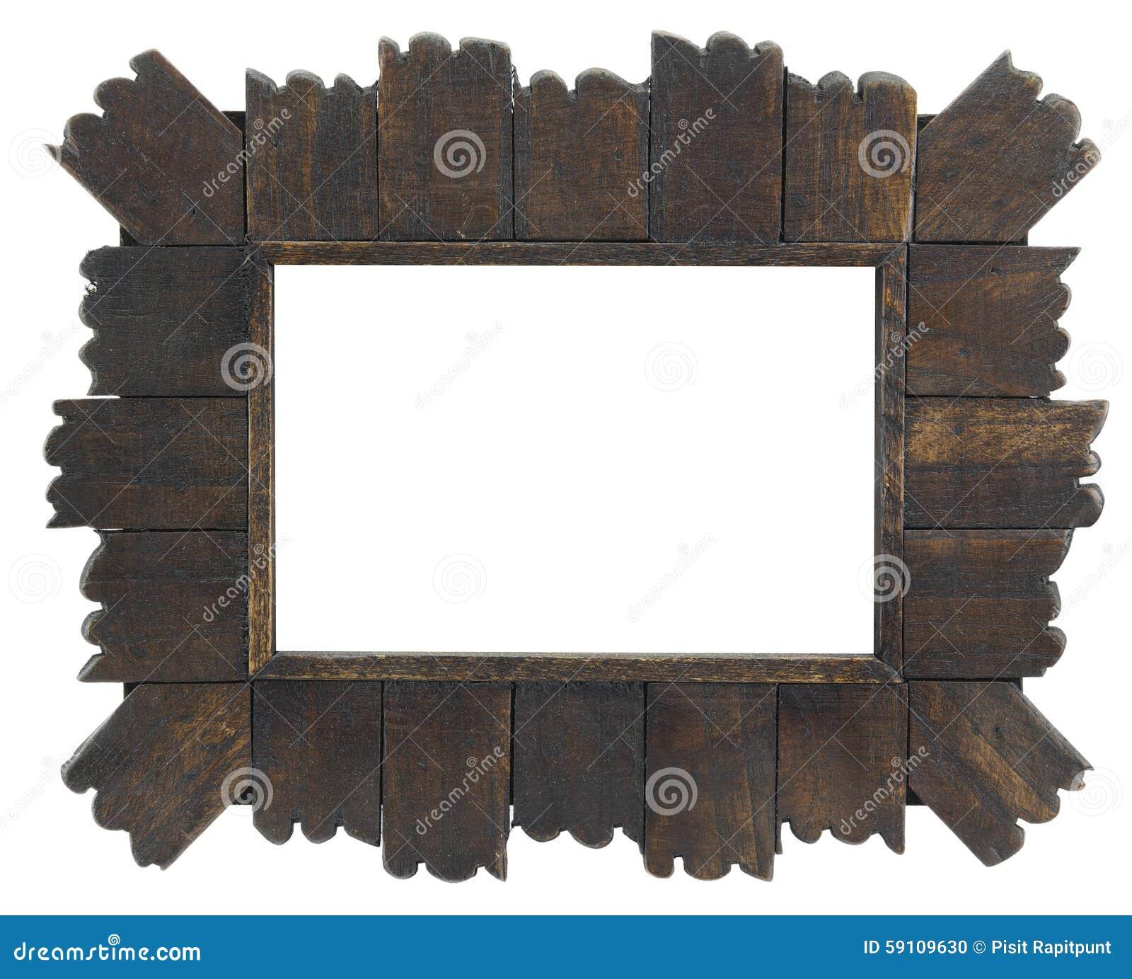 在白色的老木制框架