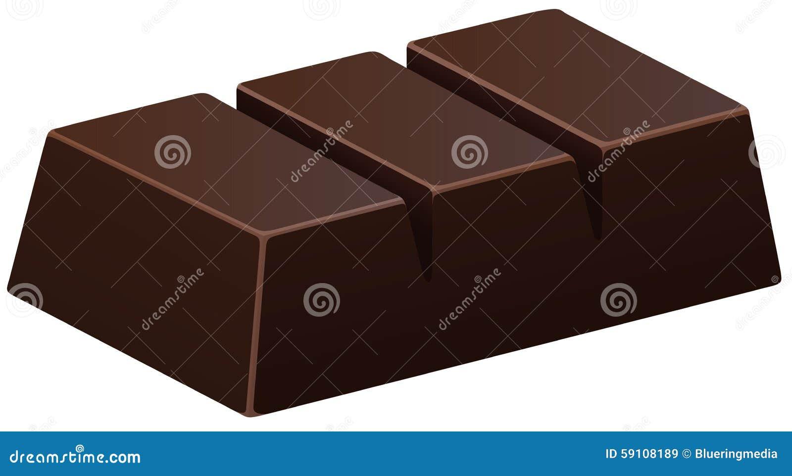 在白色的黑暗的巧克力块