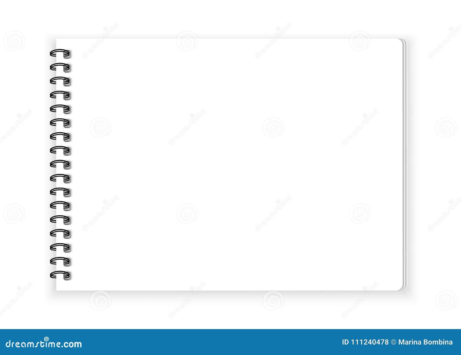在白色背景传染媒介的螺纹笔记本纸