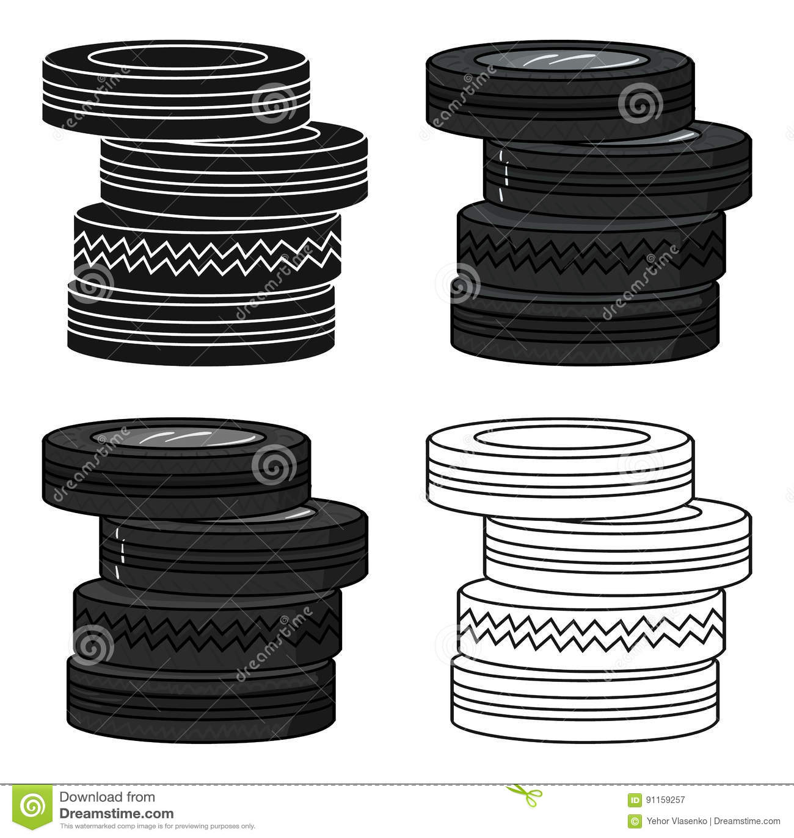 从在白色背景在动画片样式的轮胎象设路障隔绝的 迷彩漆弹运动标志股票传染媒介例证