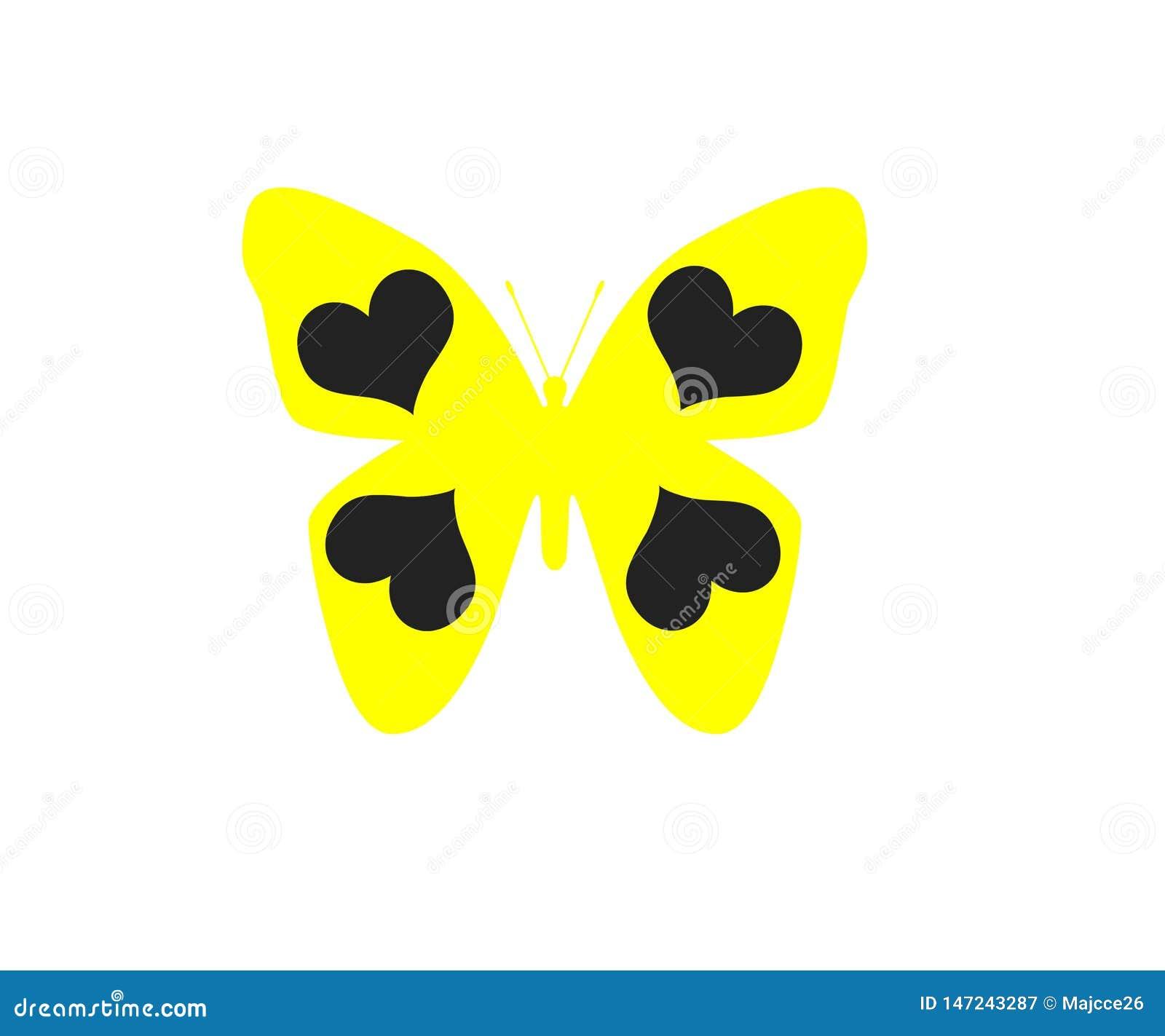 在白色背景对象元素隔绝的蝴蝶
