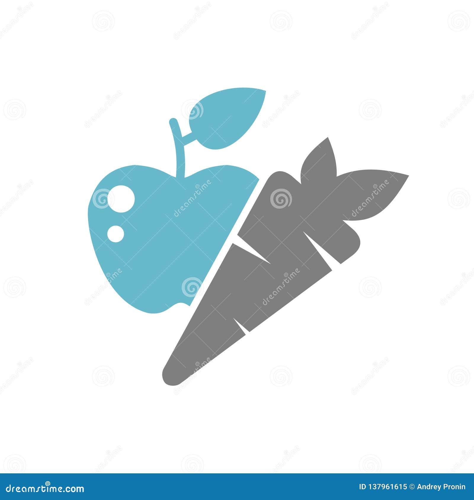 在白色背景的健康食品象图表和网络设计的,现代简单的传染媒介标志 背景蓝色颜色概念互联网 时髦标志为