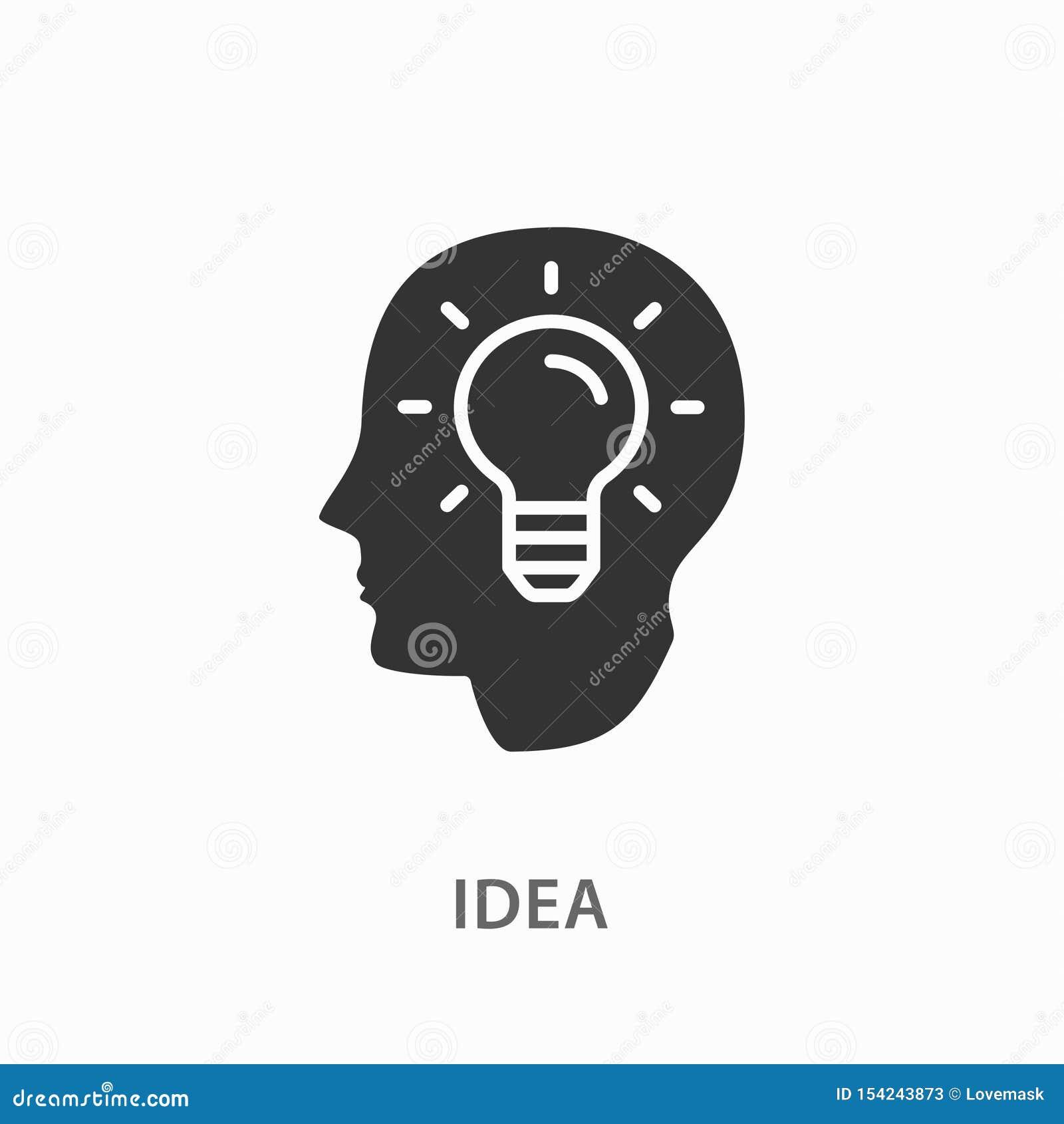 在白色背景的创造性的脑子想法象