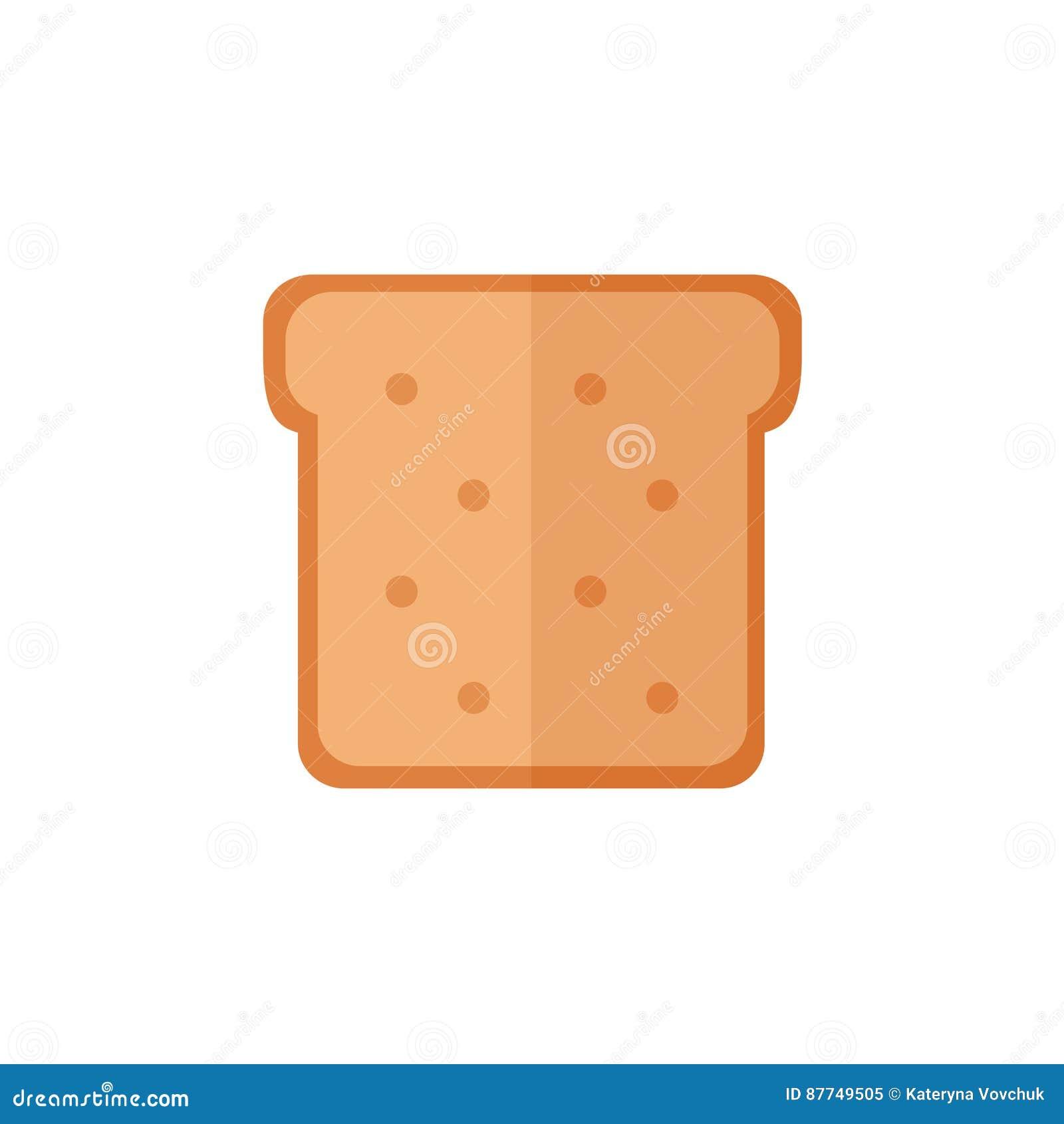 在白色背景的多士面包被隔绝的象