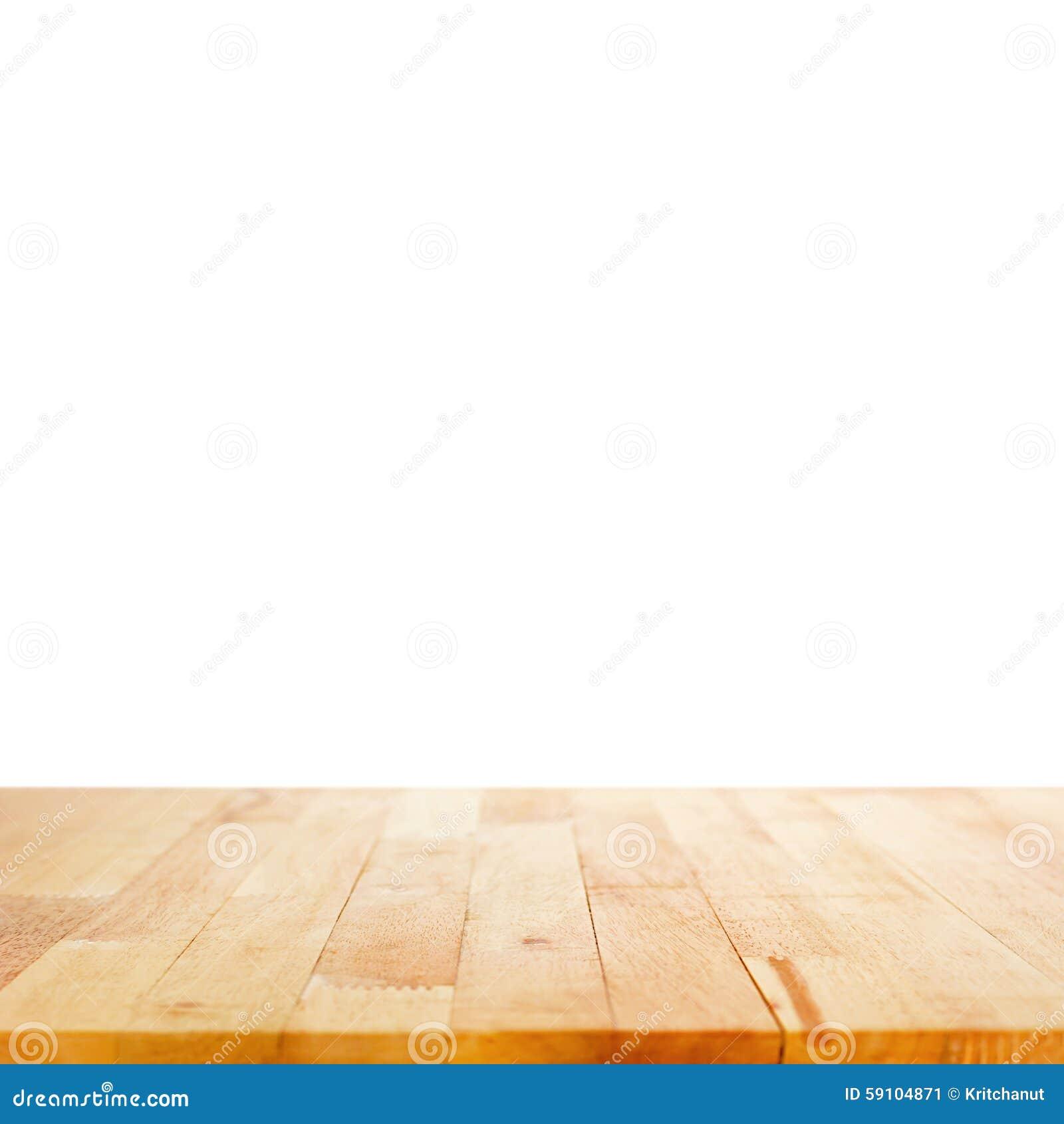 在白色背景的木台式