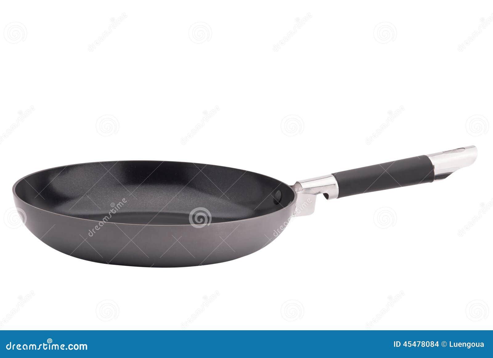 在白色背景的煎锅