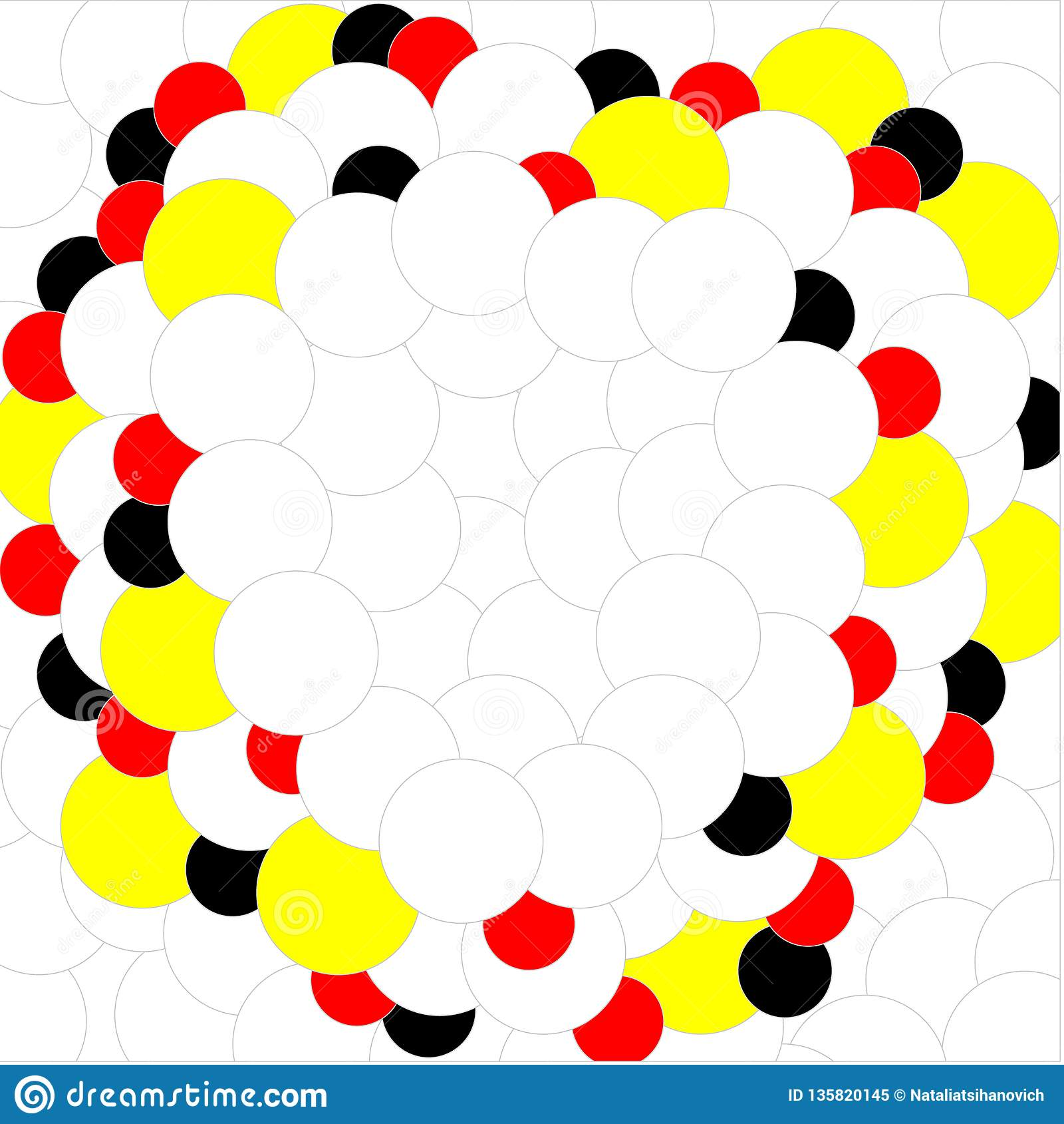 在白色背景的球白色红色黄色黑色