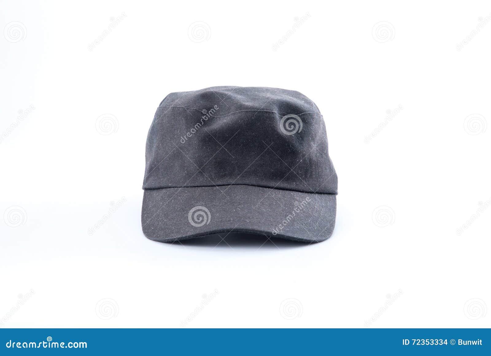 在白色背景的老盖帽