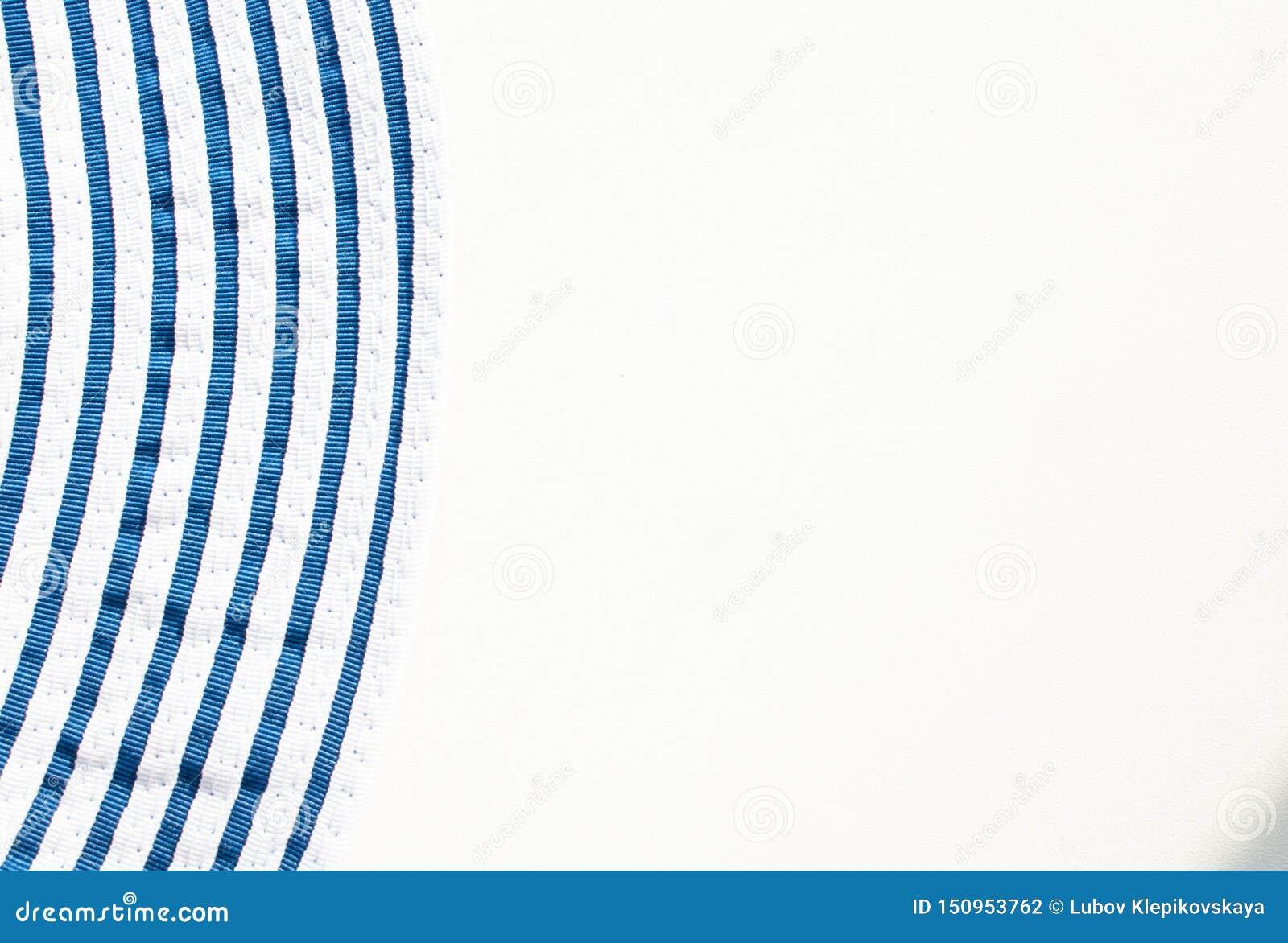 在白色背景的蓝色条纹
