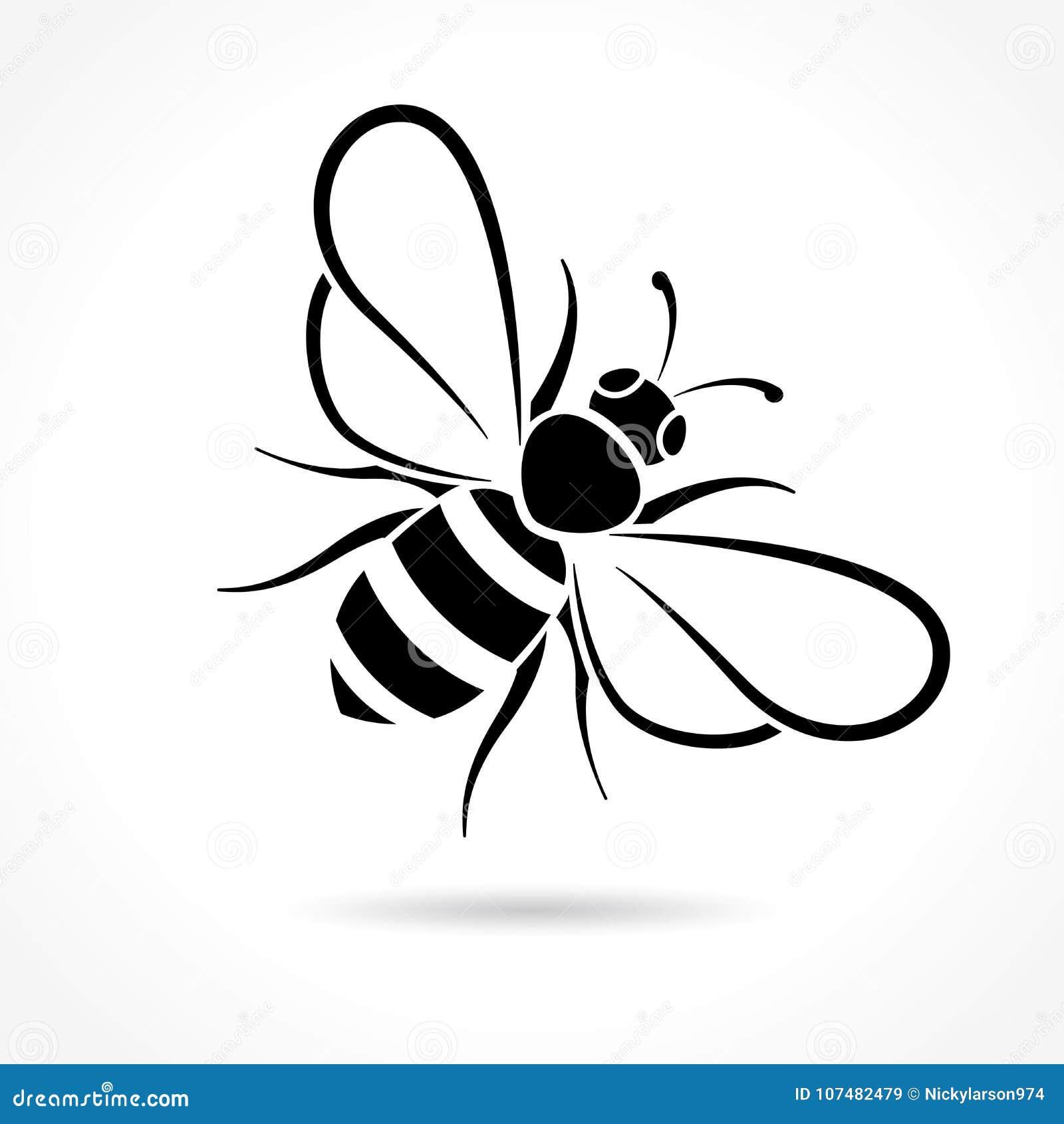 在白色背景的蜂象