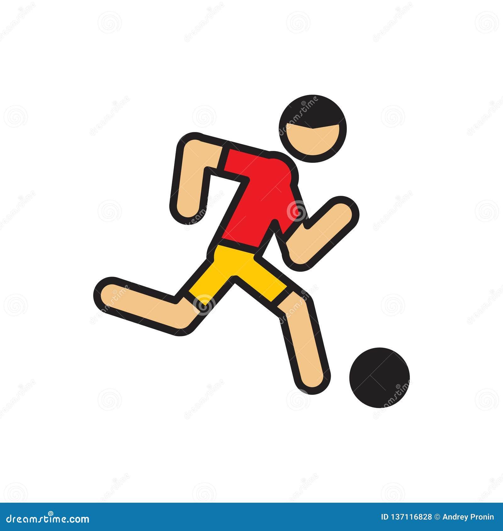 在白色背景的足球运动员象图表和网络设计的,现代简单的传染媒介标志 背景蓝色颜色概念互联网 时髦标志为