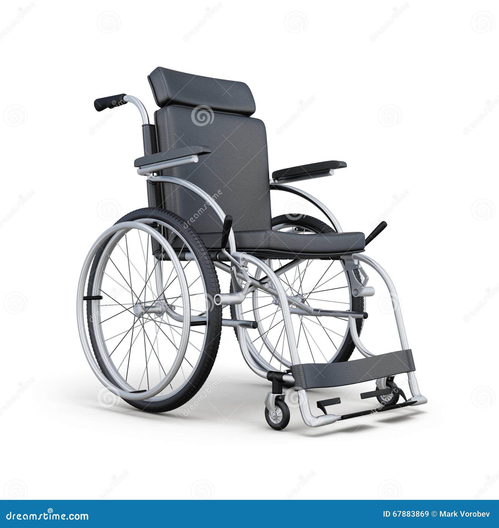 在白色背景的轮椅 3d翻译
