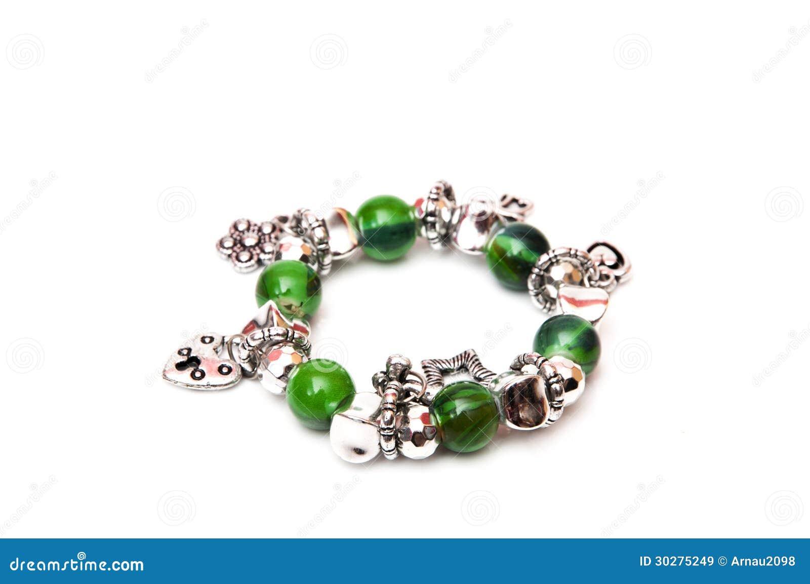 绿色球镯子