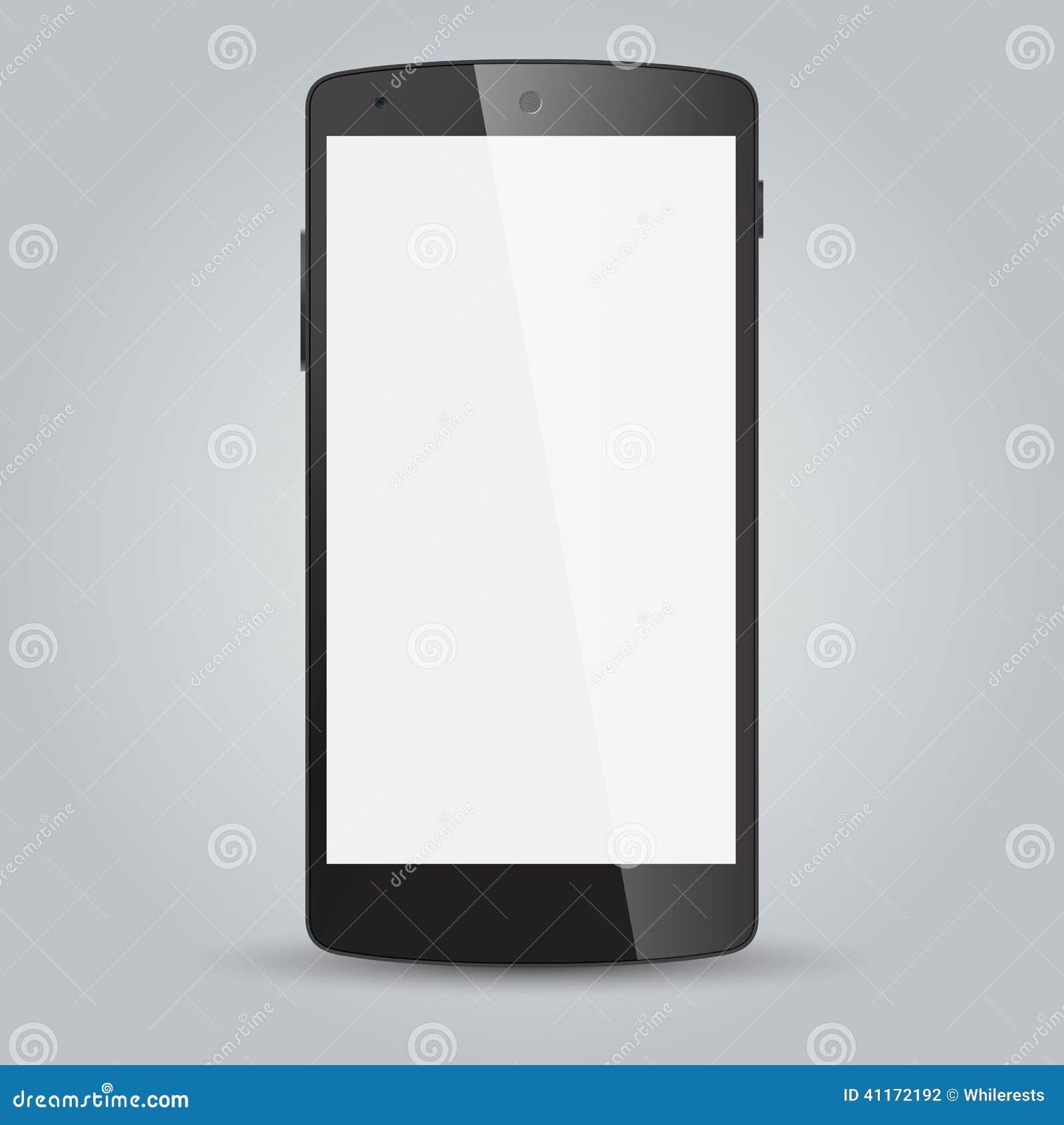 在白色背景的黑企业手机样式图片