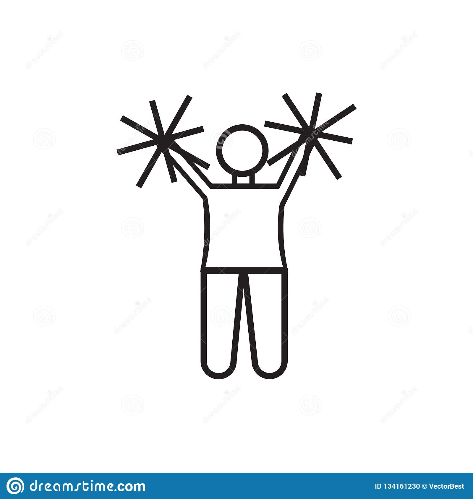 在白色背景跳象传染媒介标志和标志隔绝的美式足球啦啦队员,美式足球啦啦队员跃迁