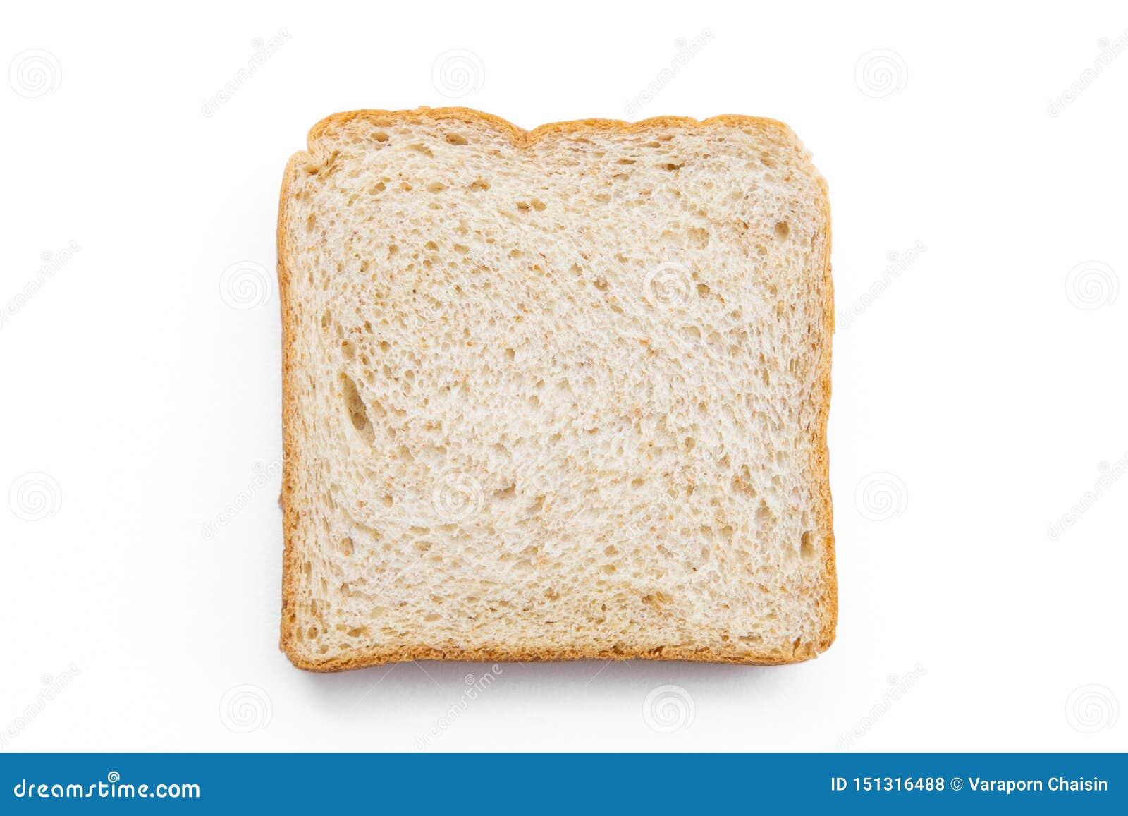 在白色背景隔绝的切的面包