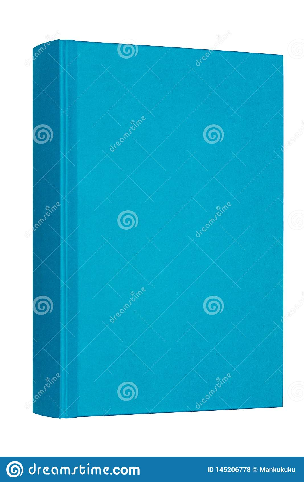 在白色背景隔绝的厚实的蓝皮书