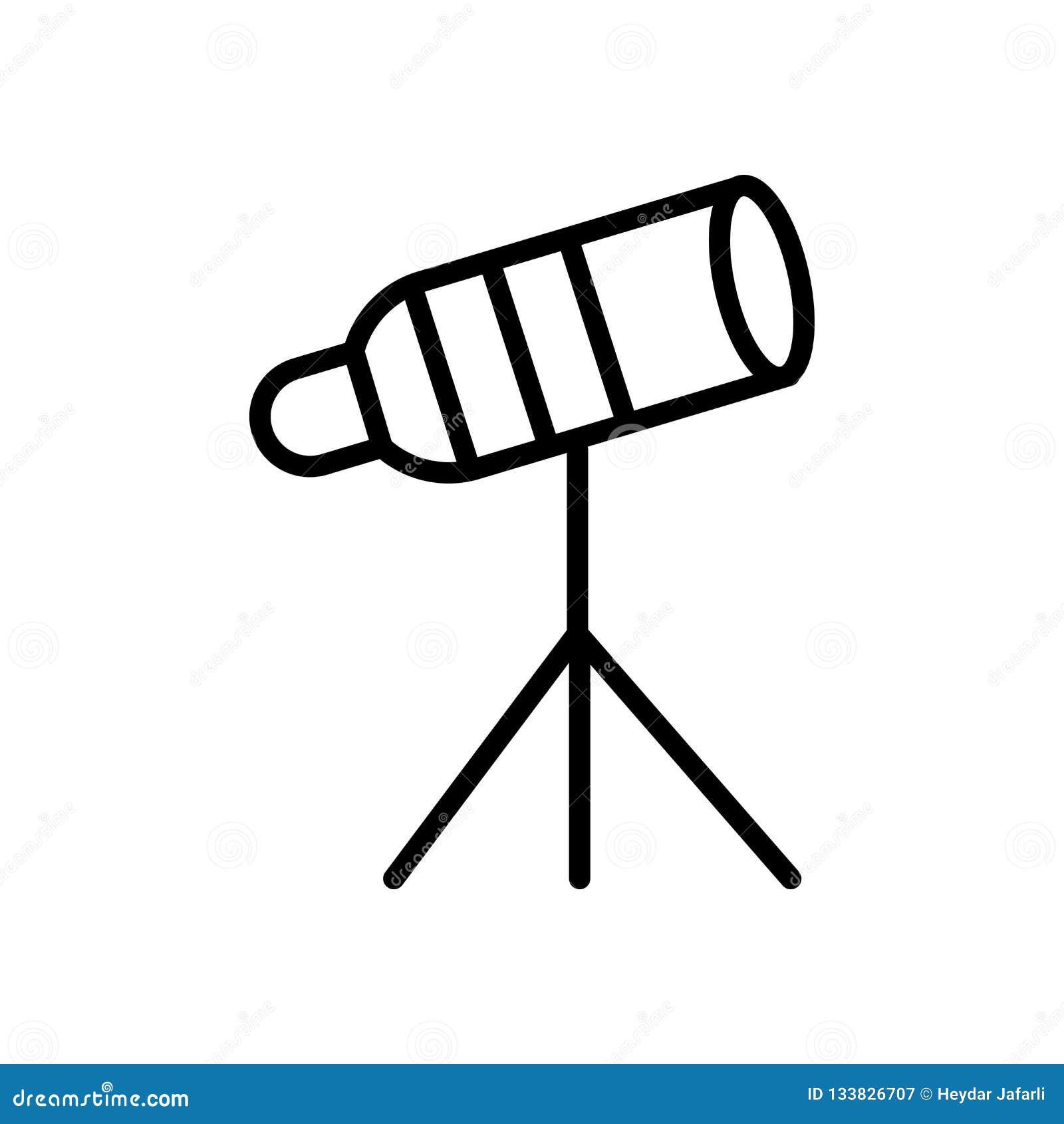 在白色背景隔绝的大望远镜象传染媒介,大远