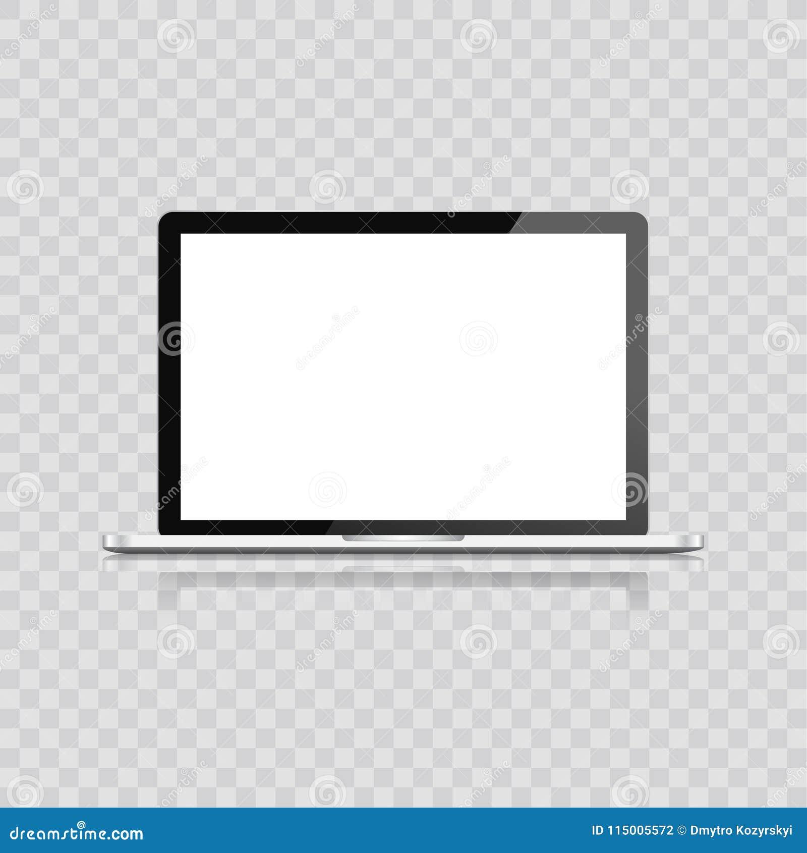 在白色背景隔绝的现实膝上型计算机 有空的屏幕的计算机笔记本 在现代机动性的空白的拷贝空间