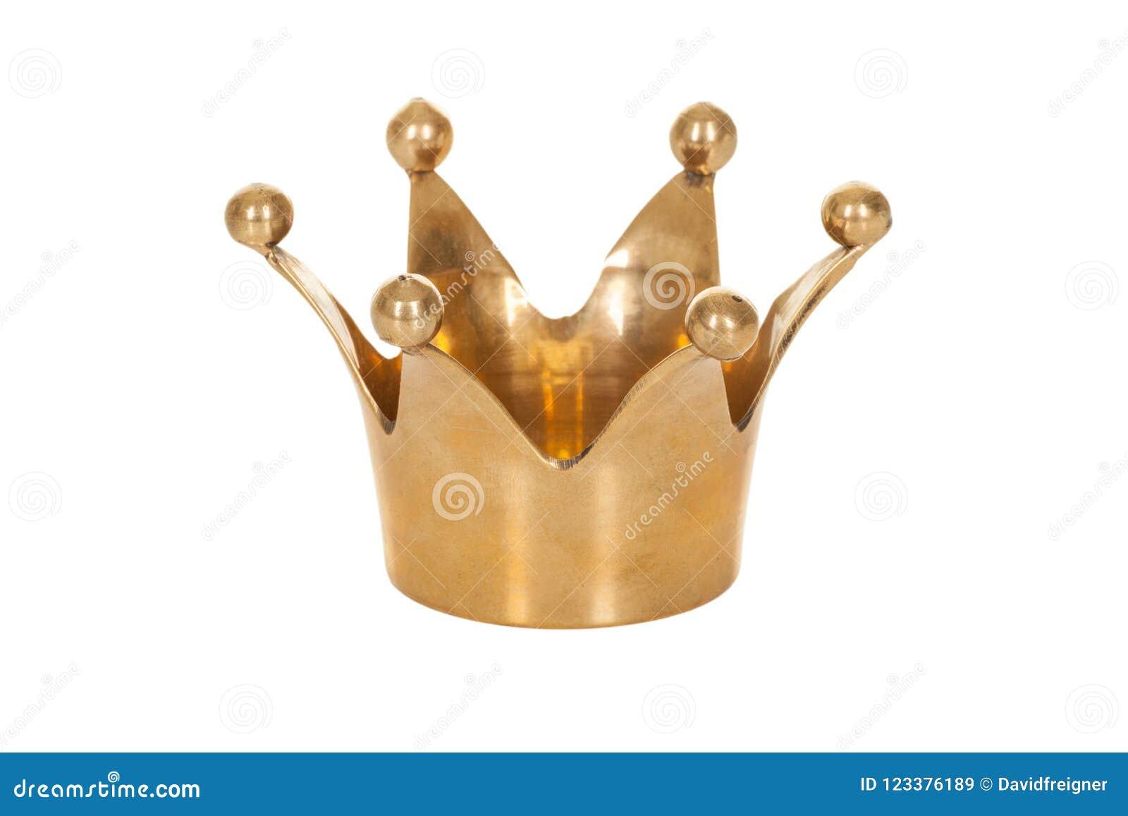 在白色背景隔绝的皇家金黄冠