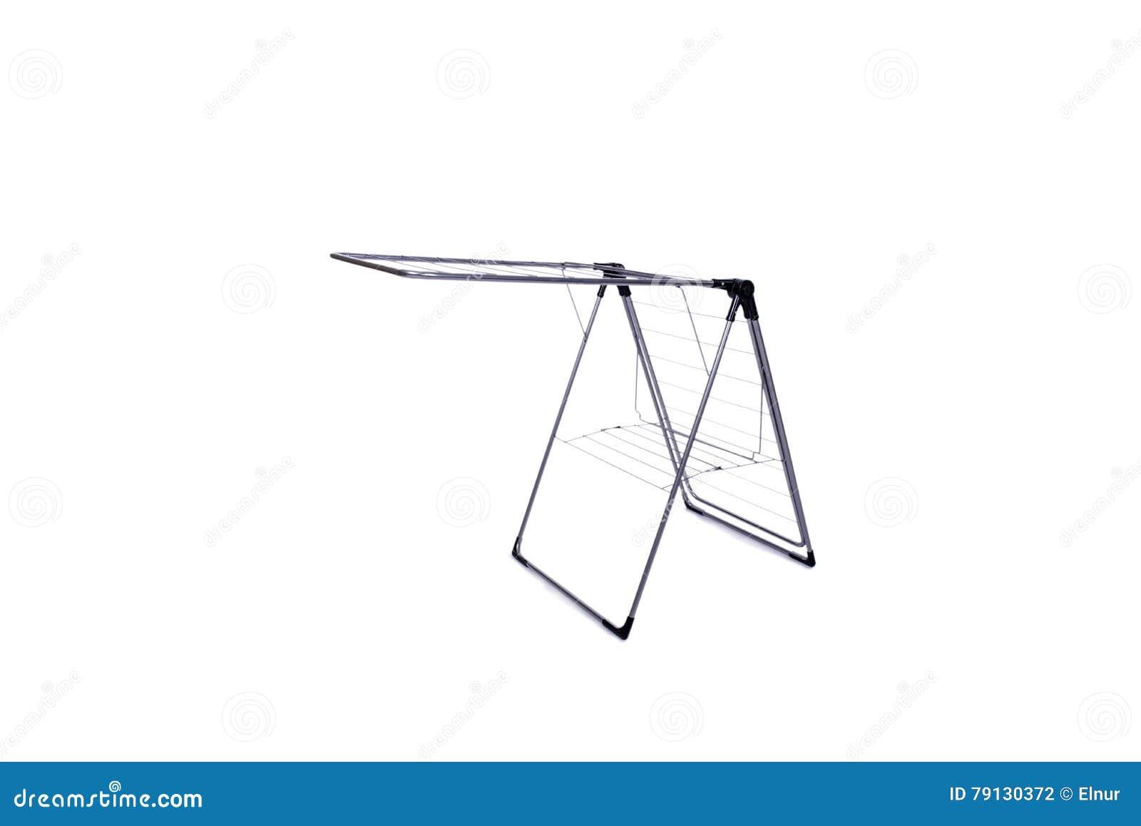 在白色背景隔绝的可折叠晒衣架