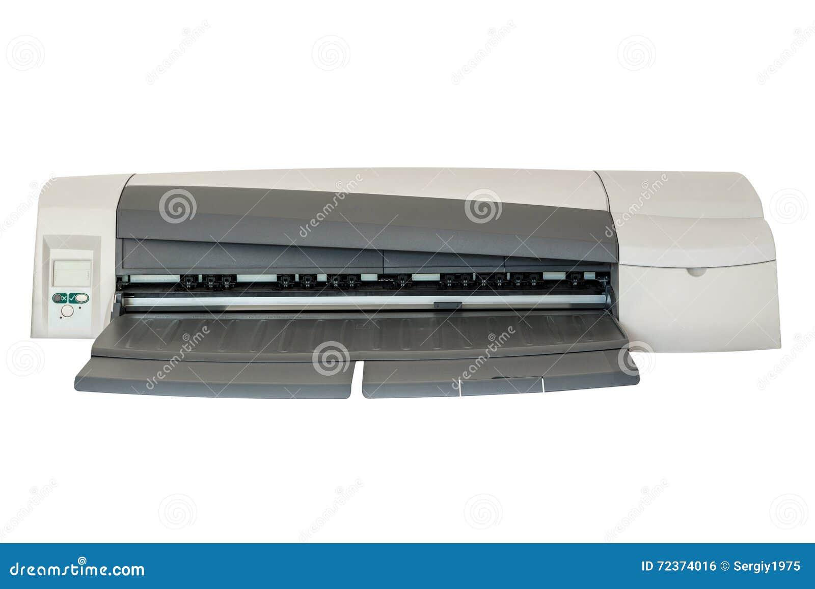 在白色背景隔绝的喷墨打印机