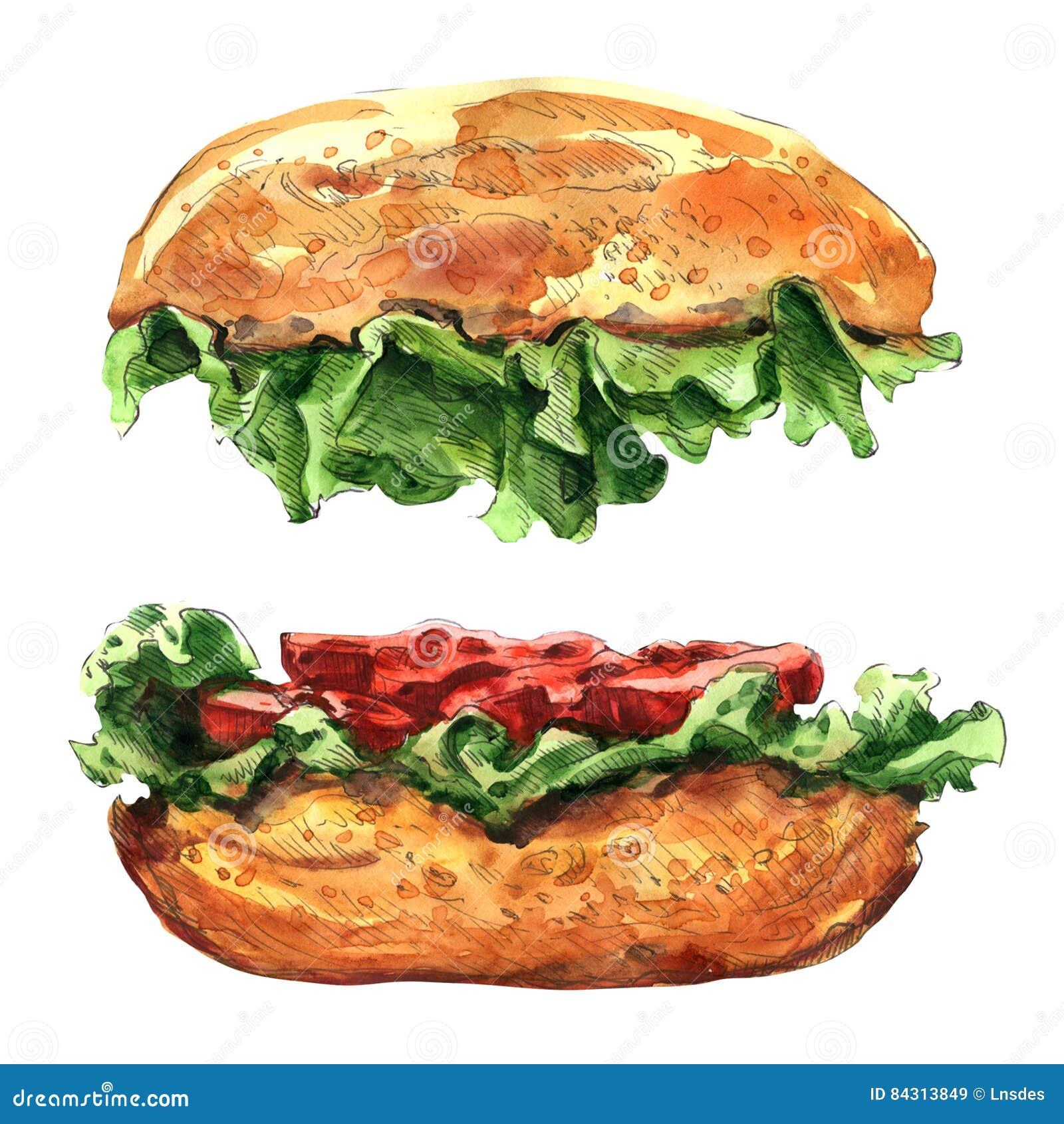 在白色背景隔绝的大汉堡包