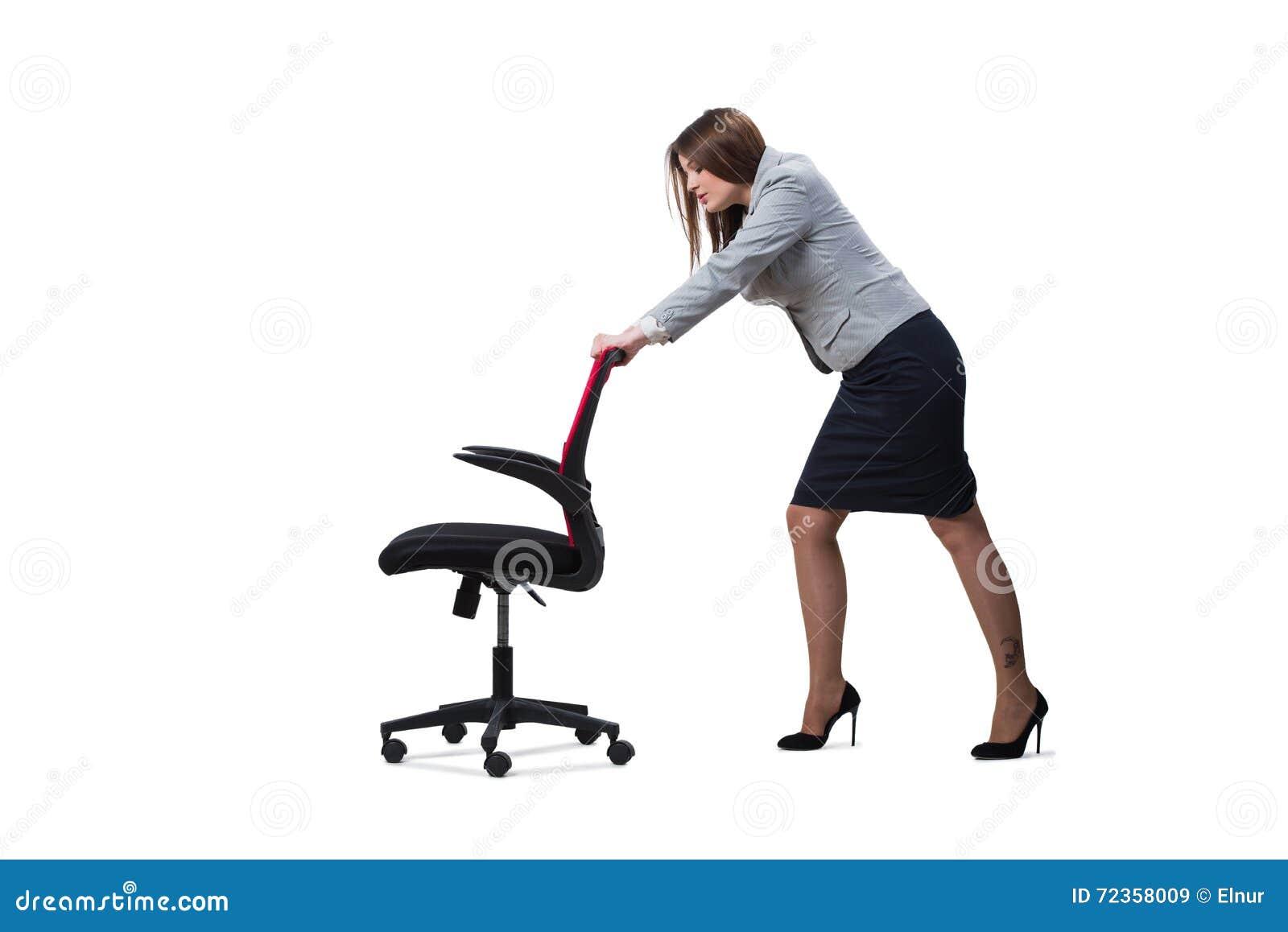 在白色背景隔绝的女实业家开会