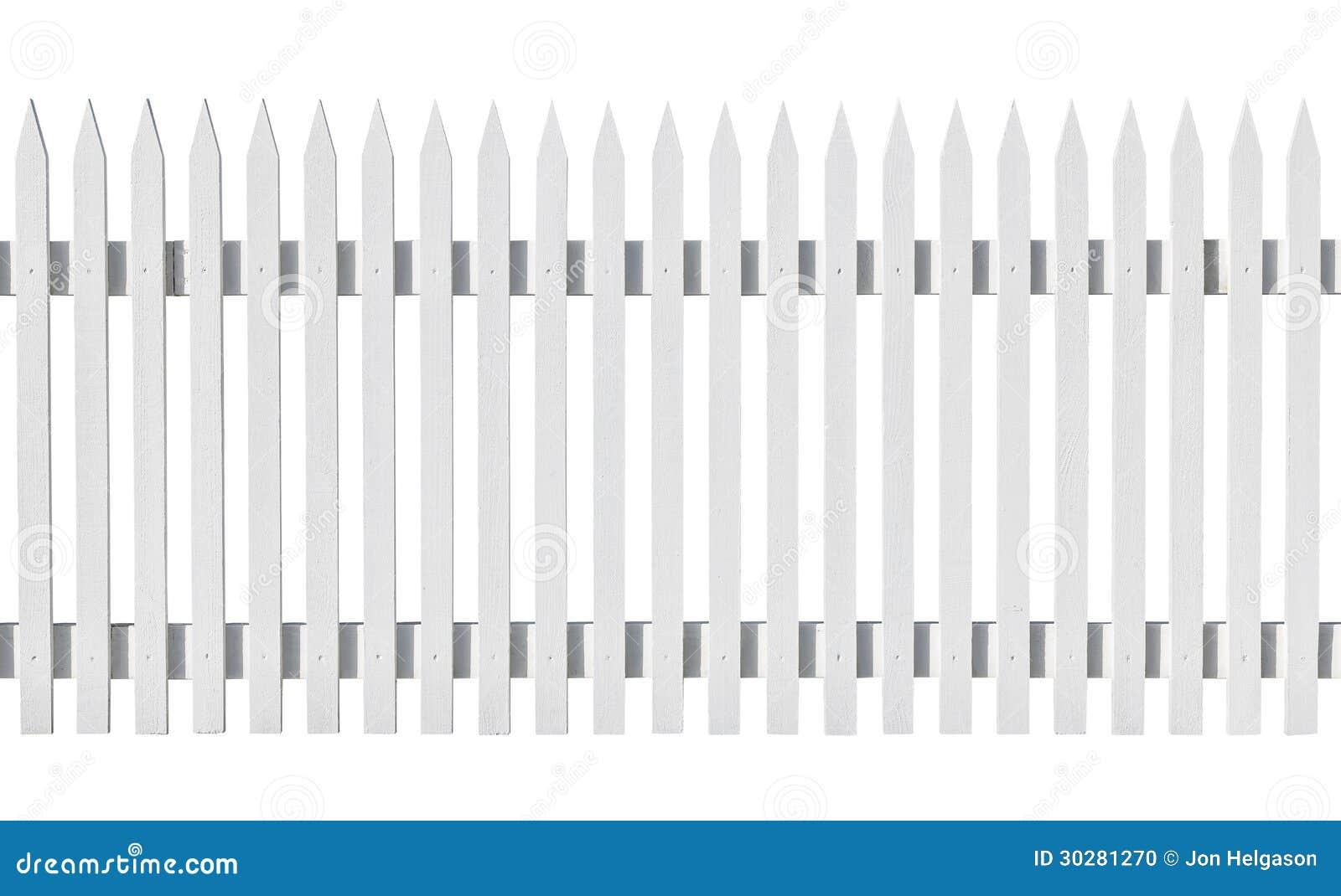 白色在白色隔绝的被采摘的篱芭