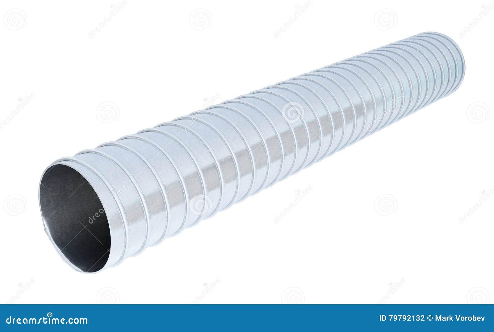 在白色背景隔绝的输送管管子 3d翻译