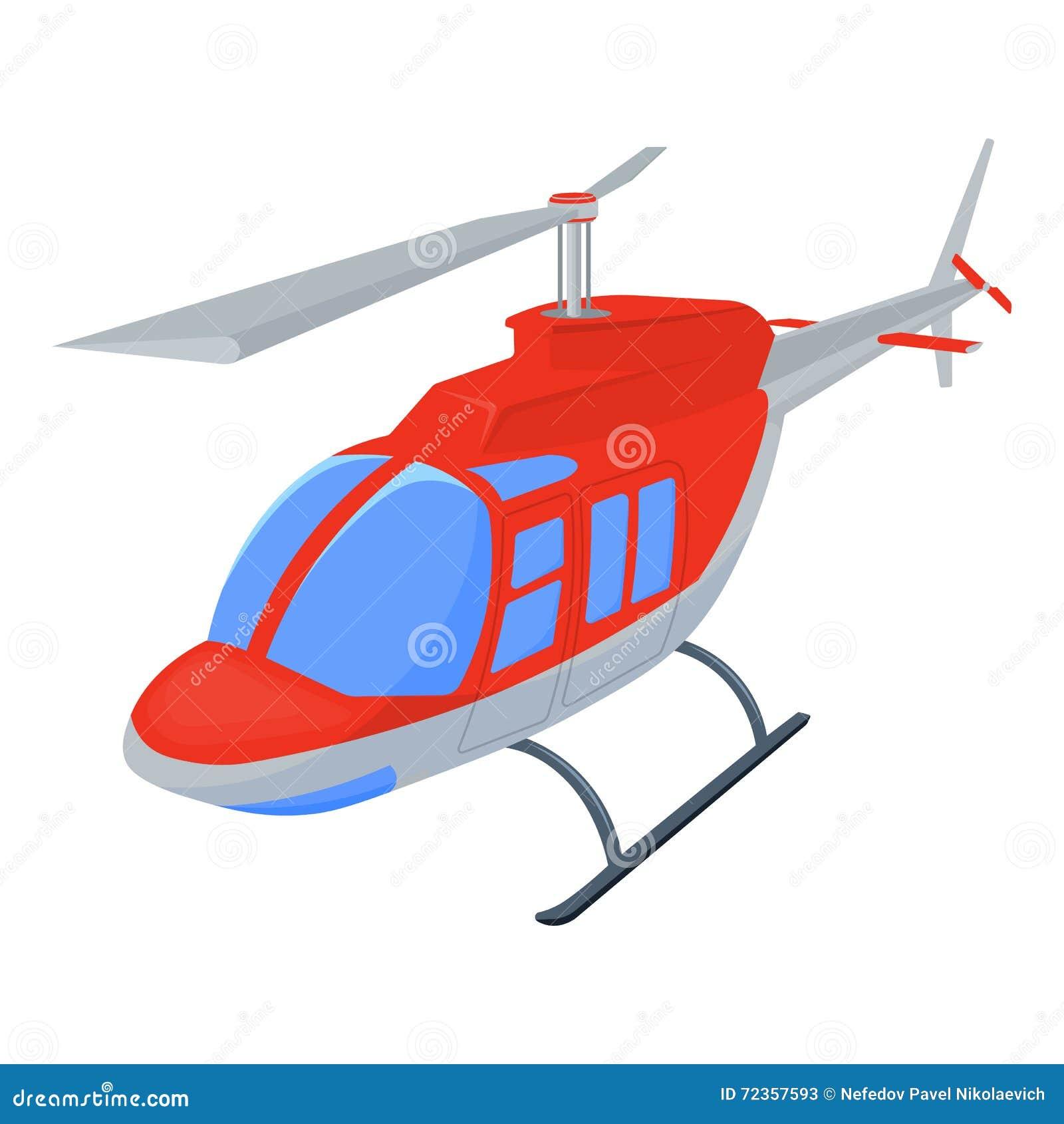 在白色背景隔绝的直升机例证