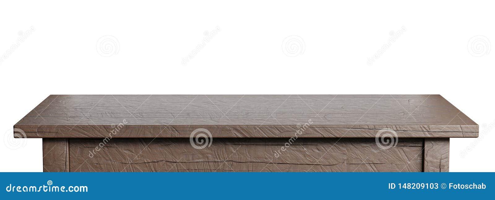 在白色隔绝的土气,空的桌 r 适用于产品显示 3d??image.colorful??