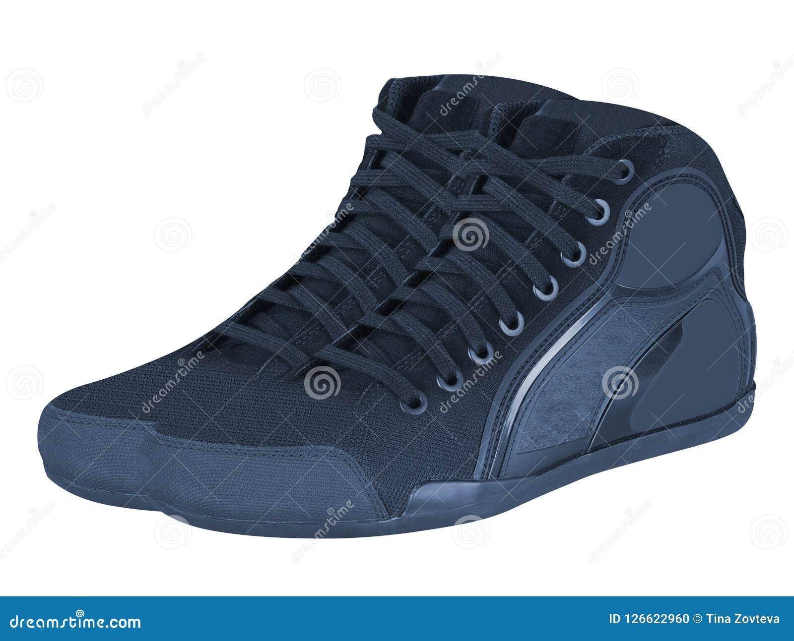 在白色隔绝的运动鞋