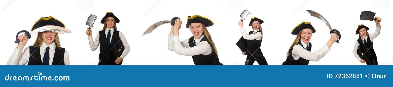 在白色隔绝的妇女海盗