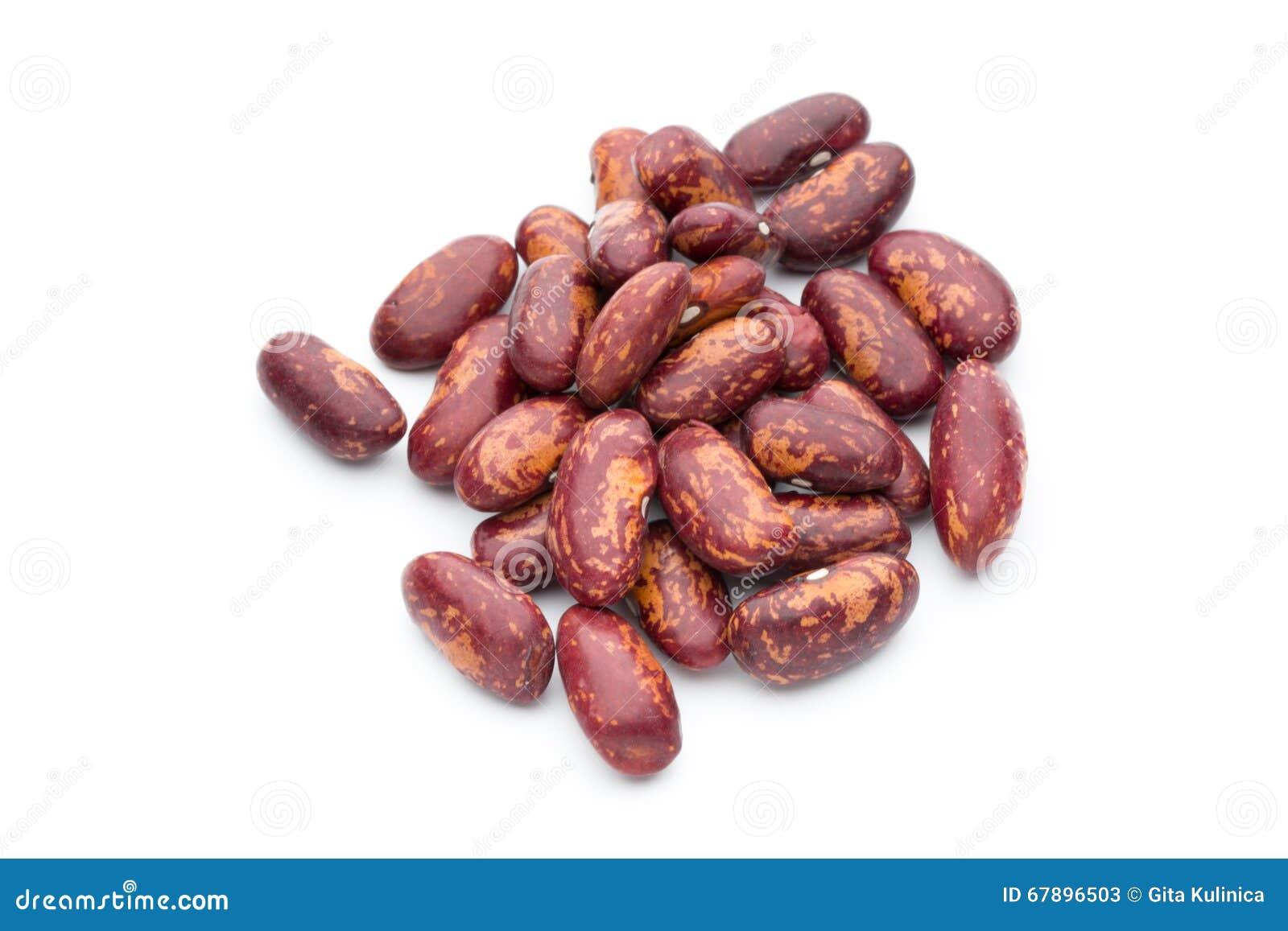 在白色隔绝的红豆