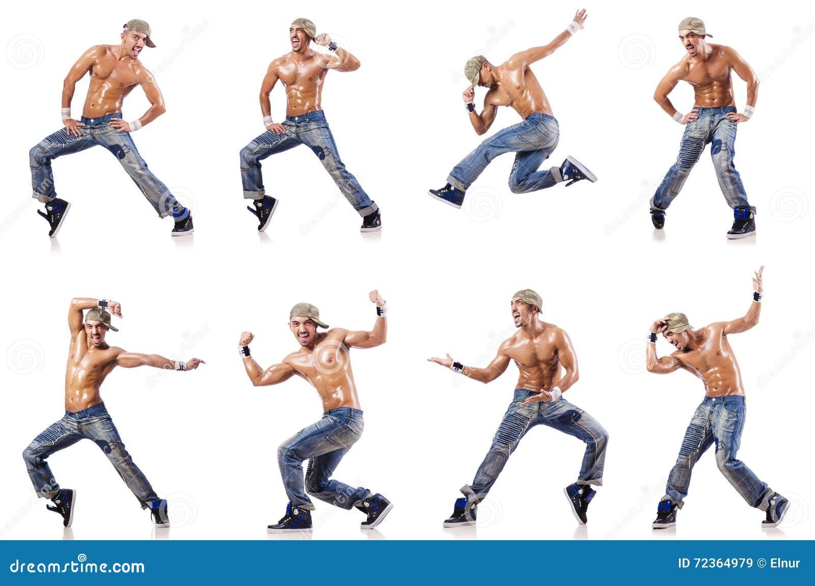 在白色隔绝的舞蹈家跳舞舞蹈