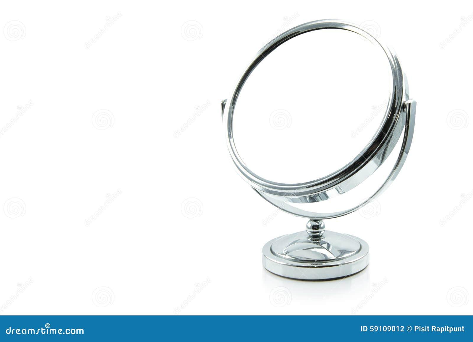 在白色隔绝的银色构成镜子