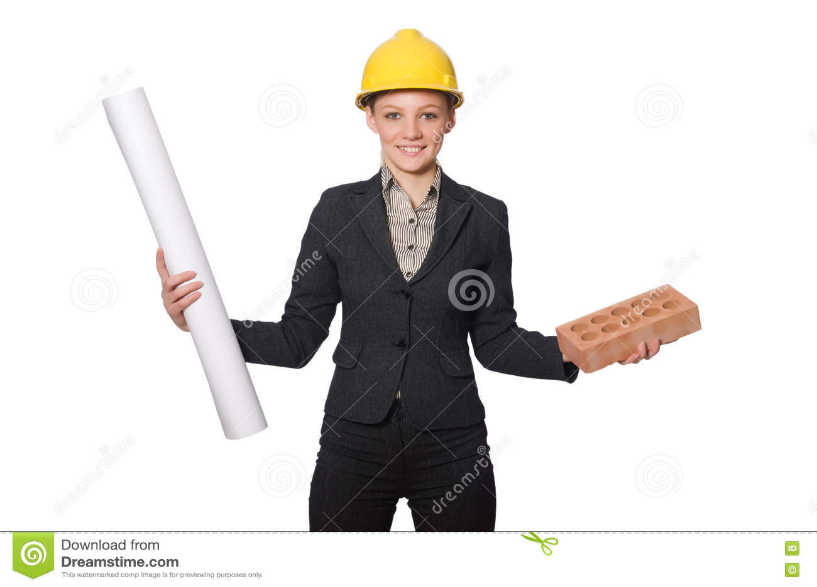 在白色隔绝的年轻建筑师