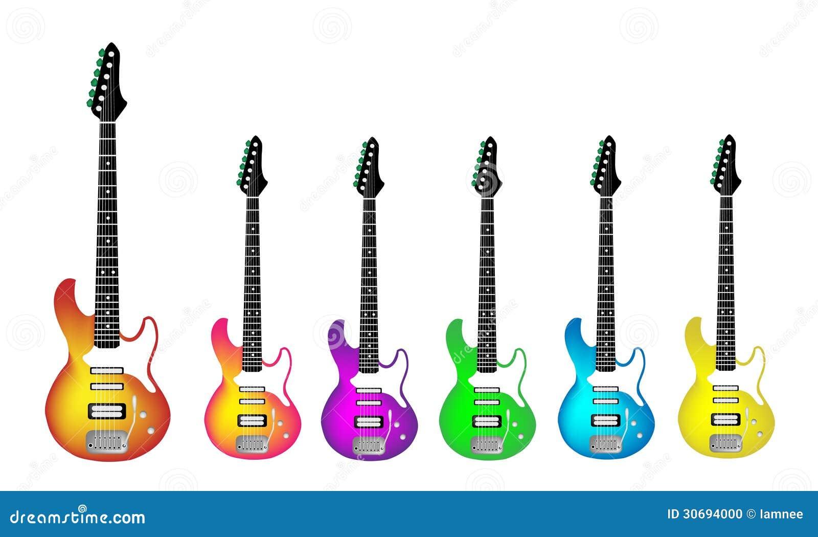 在白色Backgr的可爱的重金属的电吉他