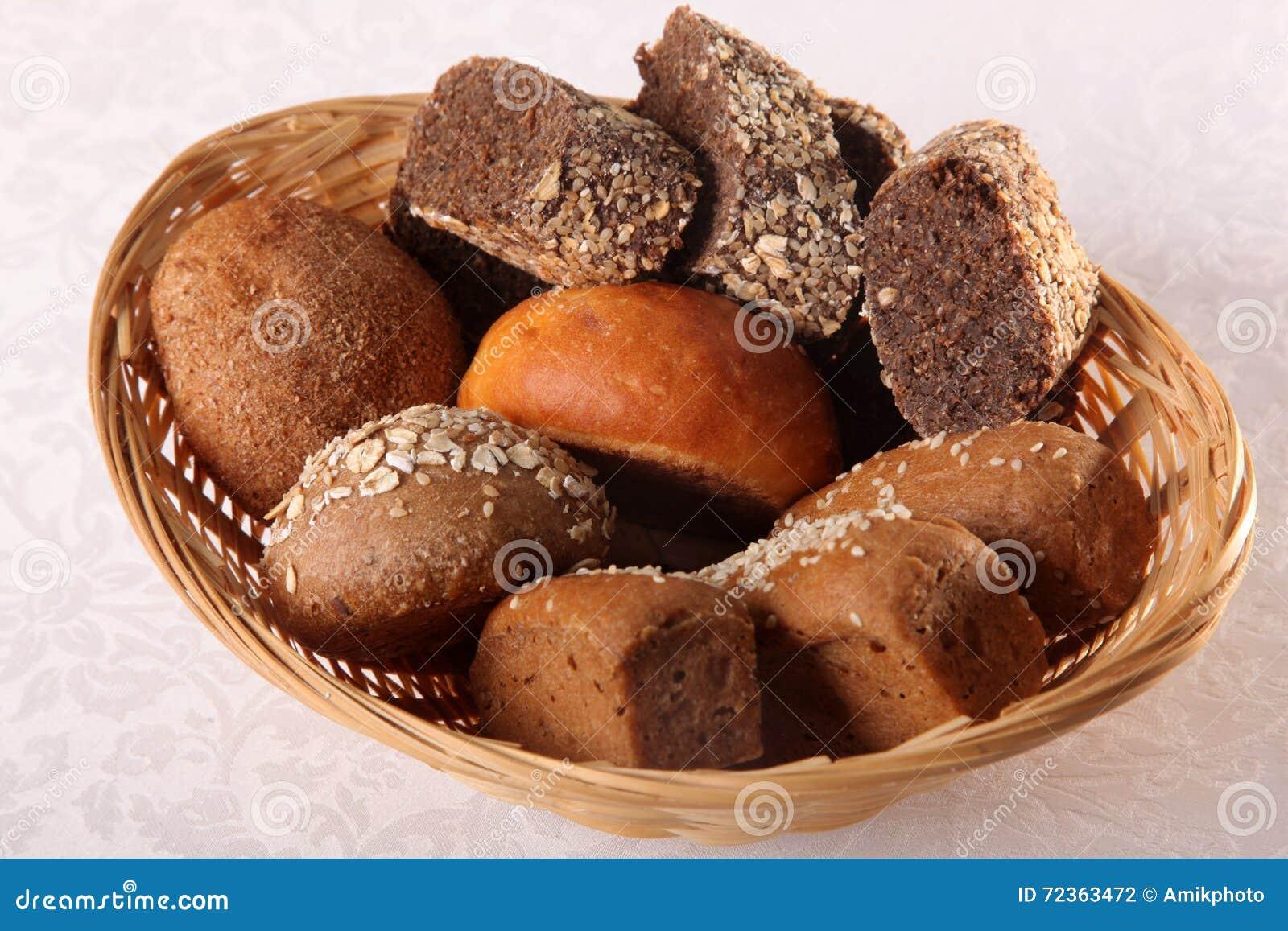 在白色backgroung的面包篮子