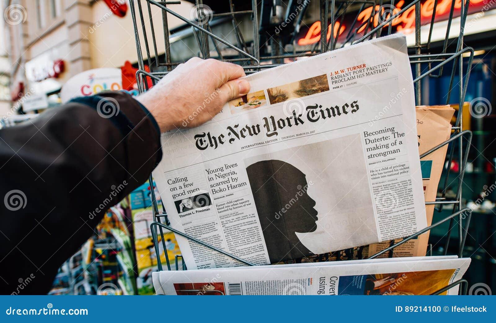 在盖子的纽约时报和Boko Haram文章
