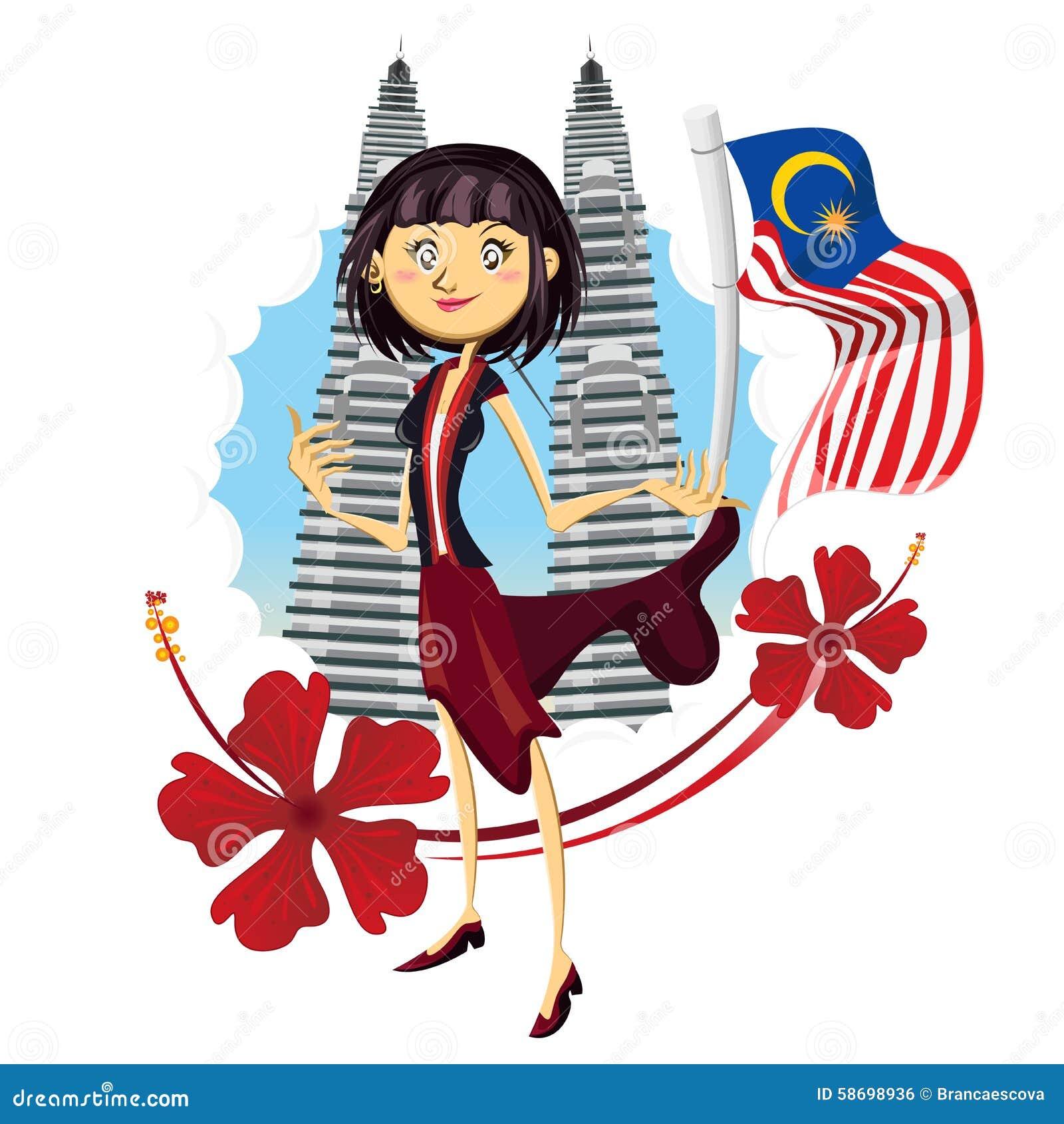 在真实马来西亚亚洲例证的旅游业