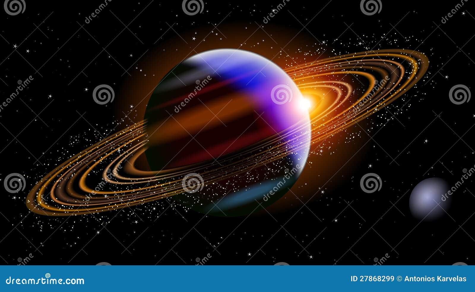 在空间的土星