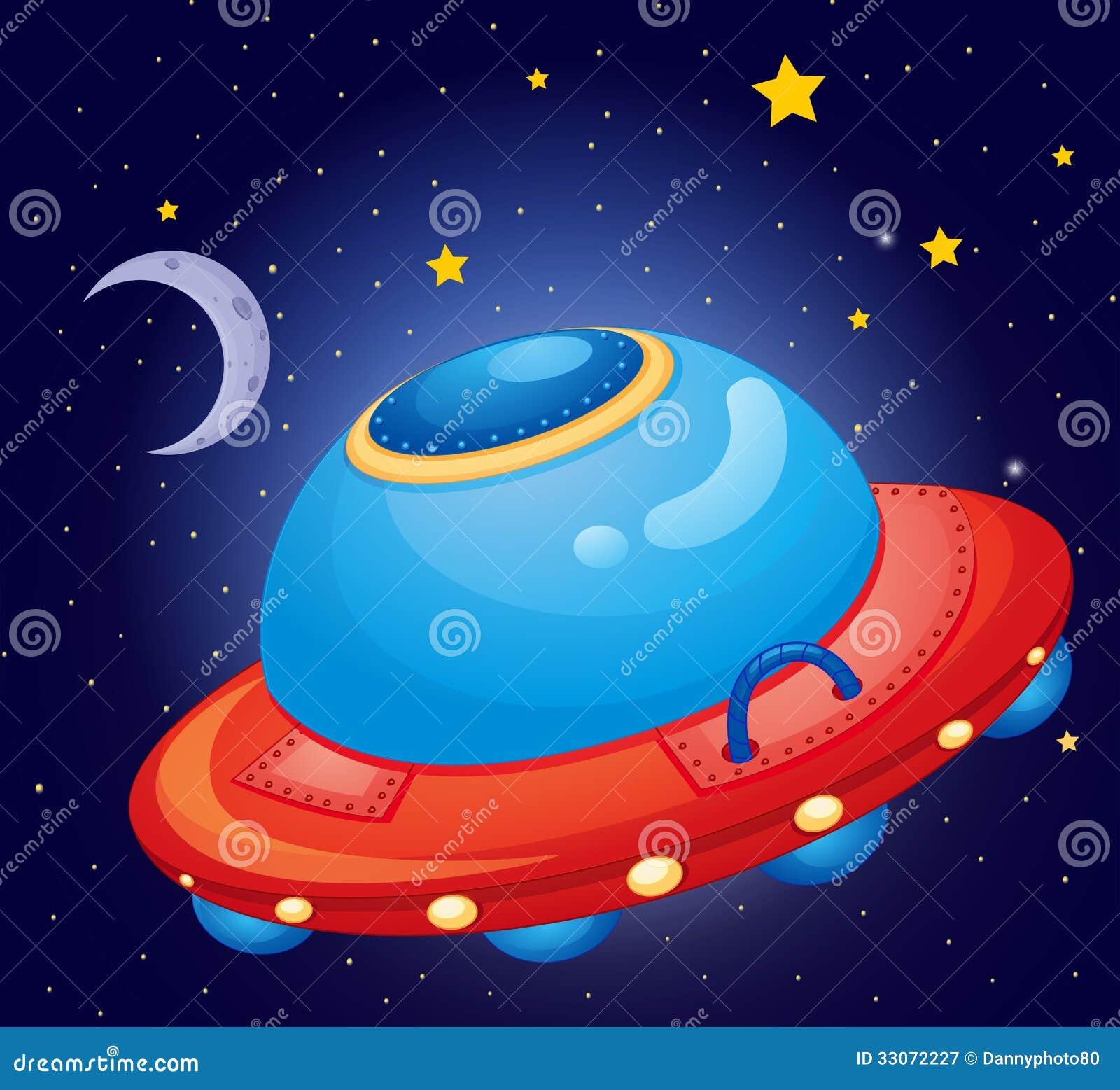 在空间的一艘太空飞船图片